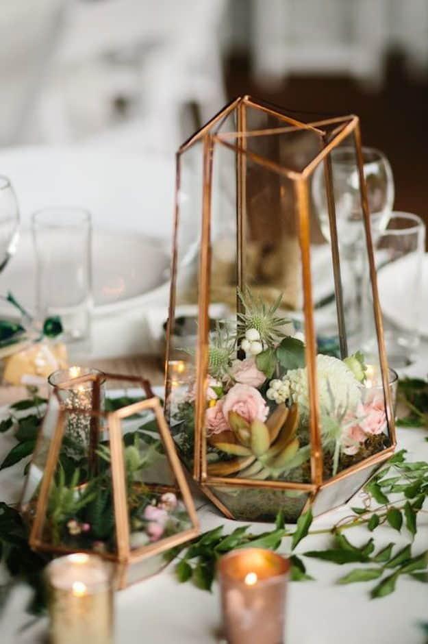 wedding geometric table decoration