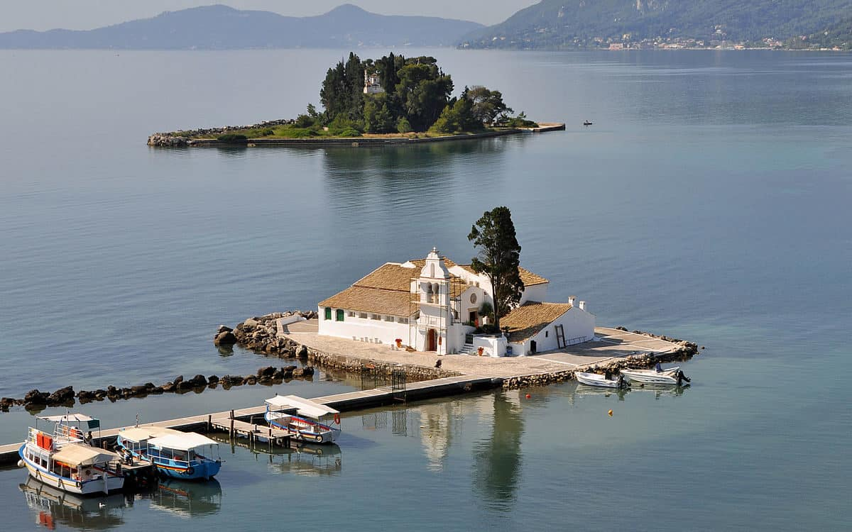honeymoon Greece Corfu Pontikonisi Mouse Island