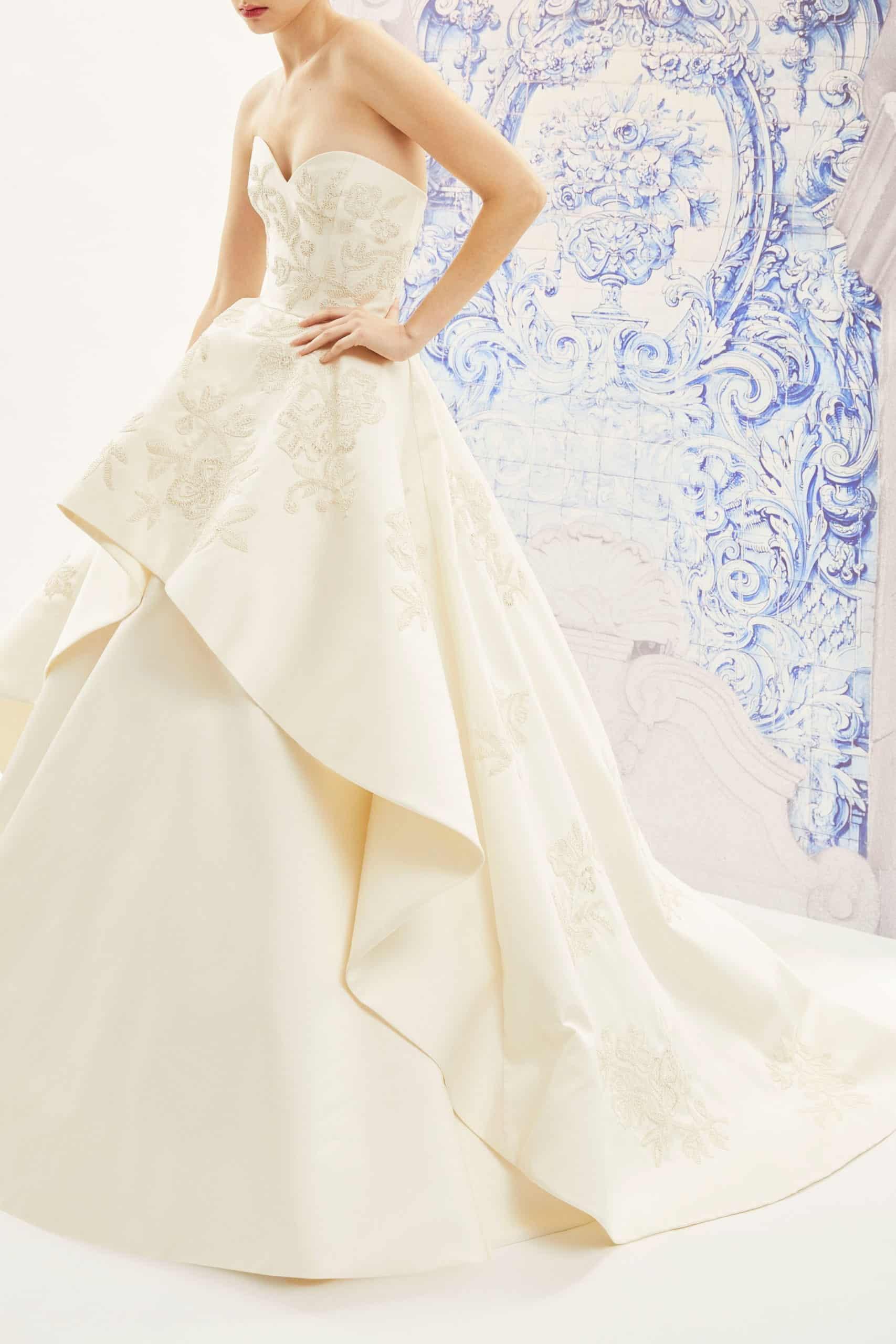 wedding dress with a extra -volume skirt fall 2019 by Carolina Herrera
