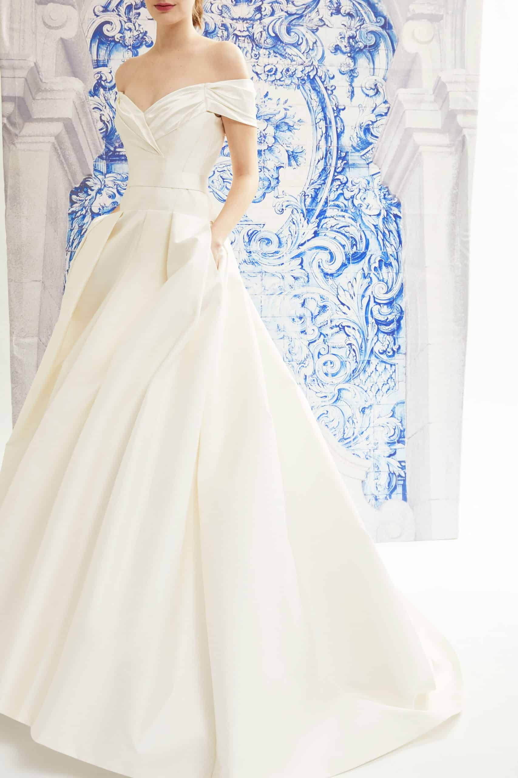 classic princess wedding dress by Carolina Herrera