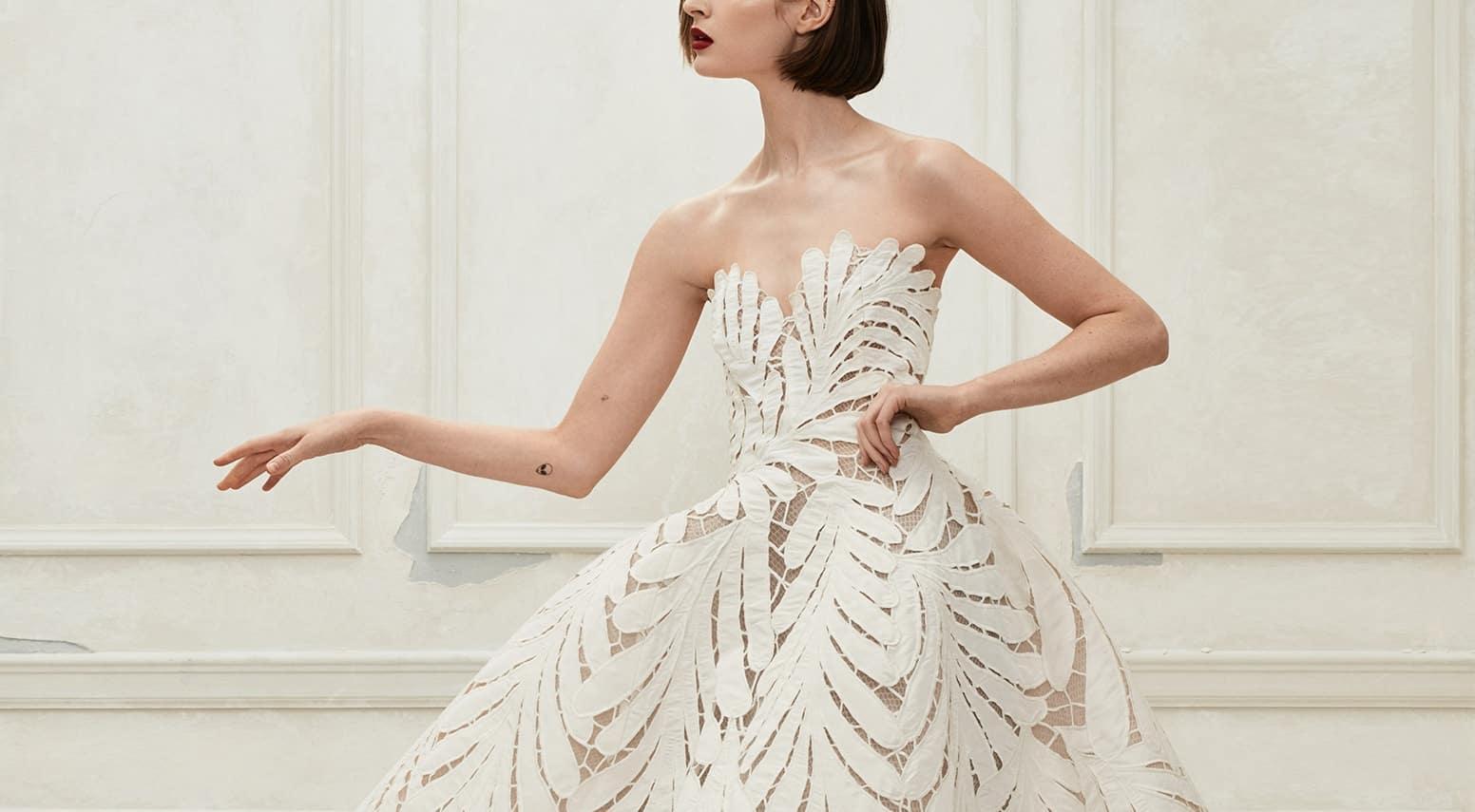 lace wedding dress by Carolina Herrera