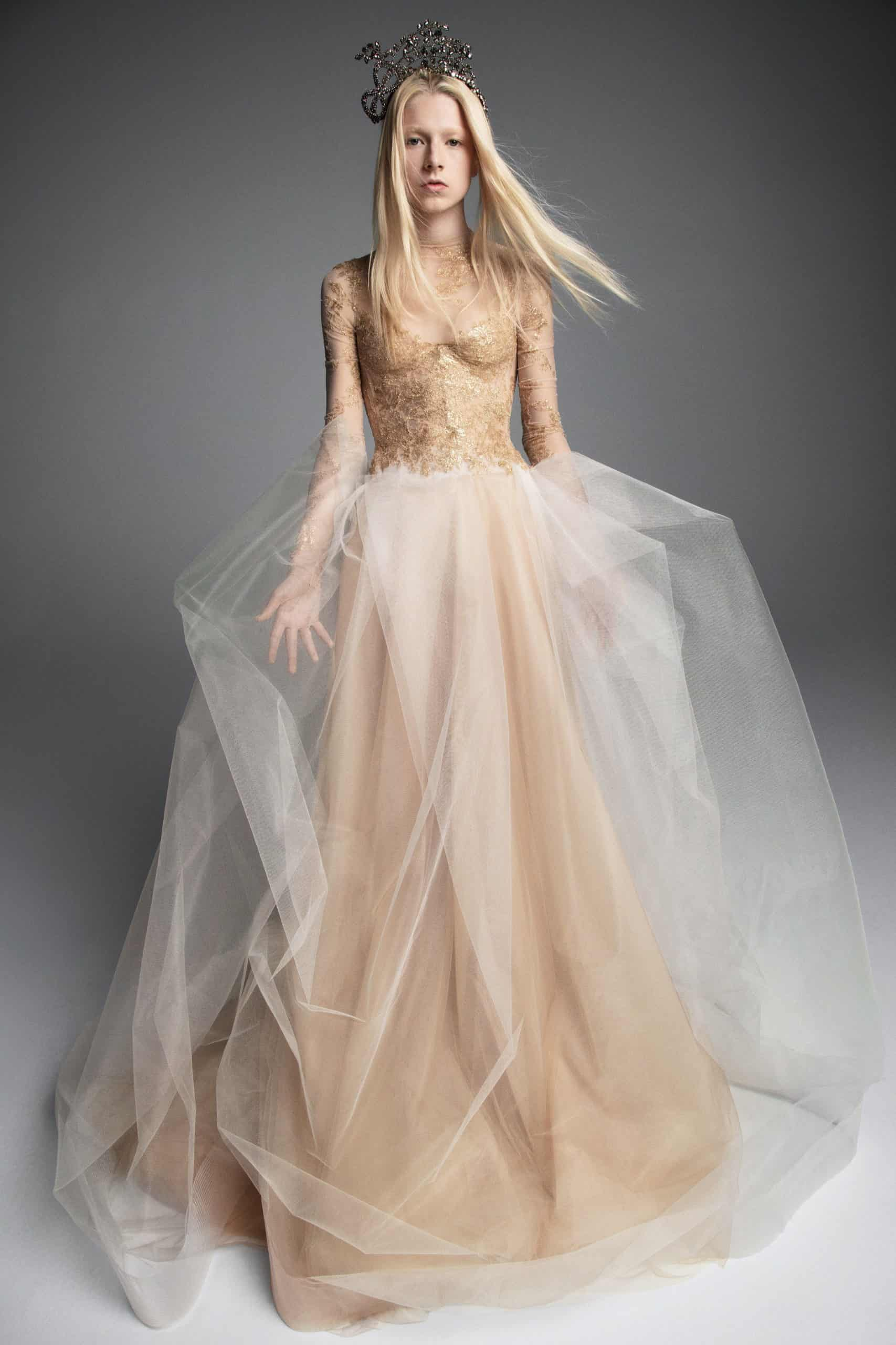 lase wedding dress with a extra tulle skirt fall 2019 by Vera Wang