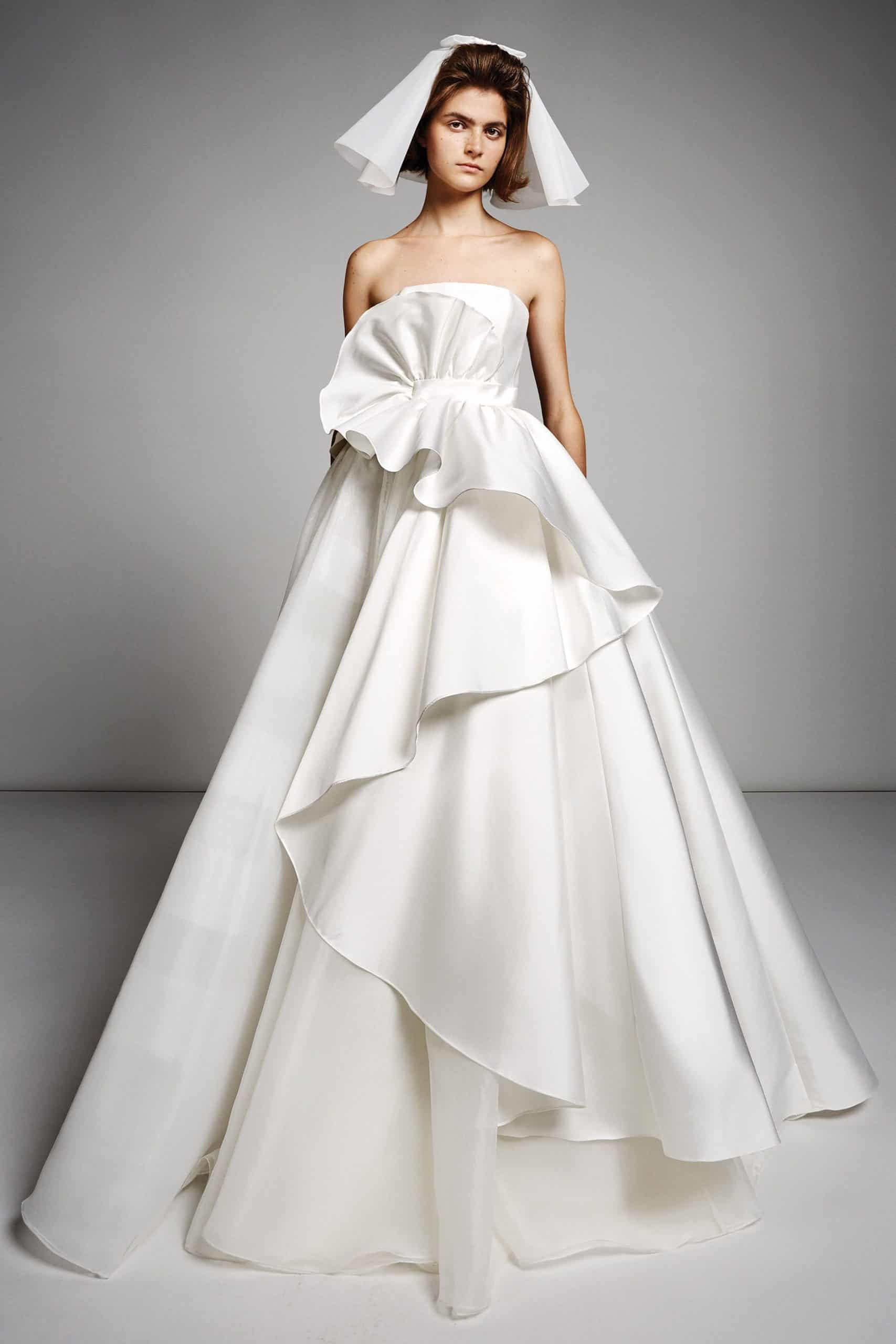 a-line silk wedding dress with extra volume by Viktor and Rolf
