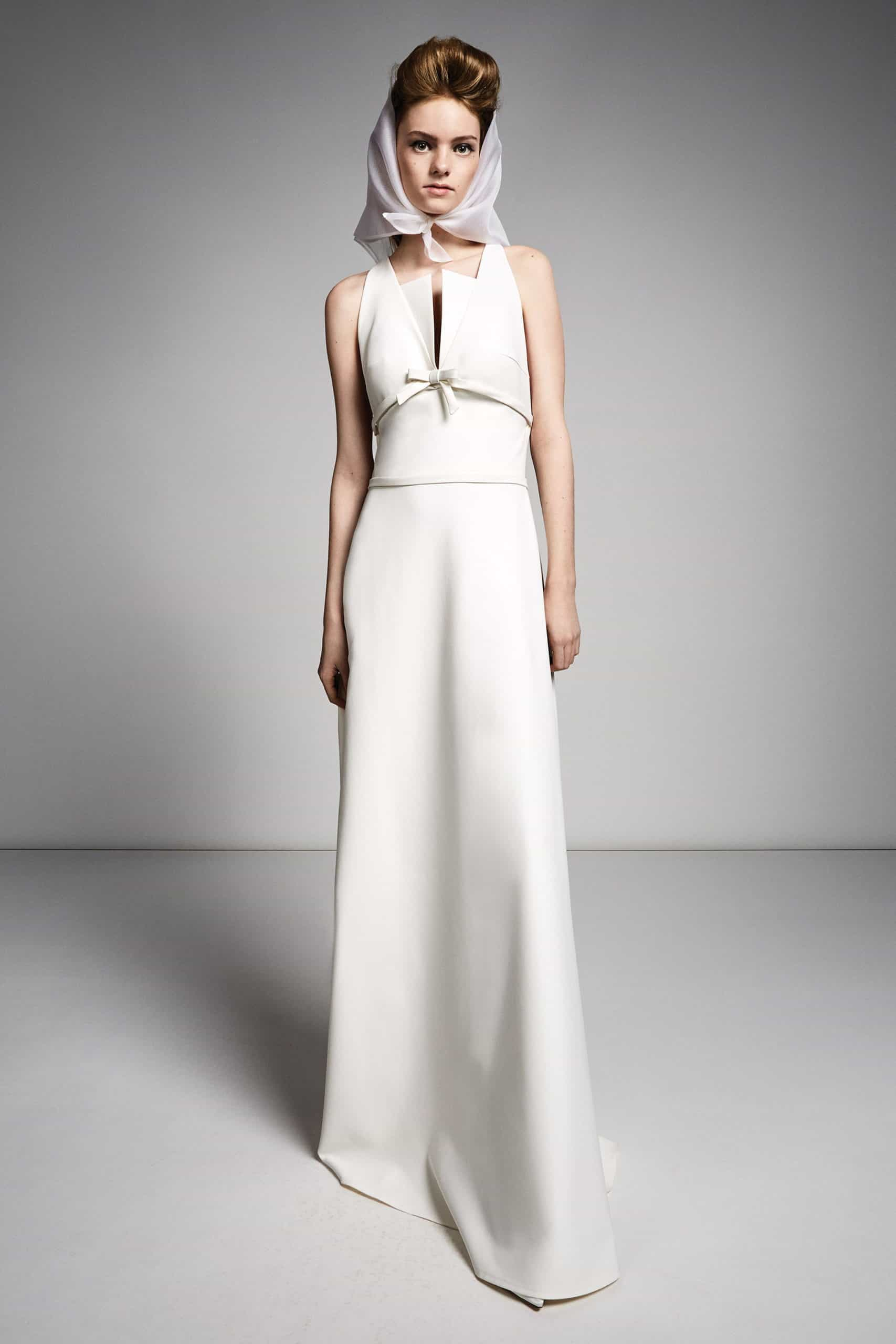 wedding dress with a bow under the bust by Viktor and Rolf