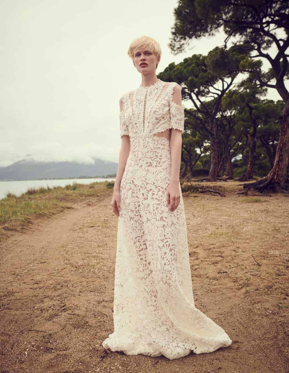laced wedding dress by Costarellos