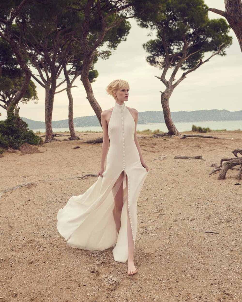 νυφικό φόρεμα με σχίμα μπροστά από Costarello