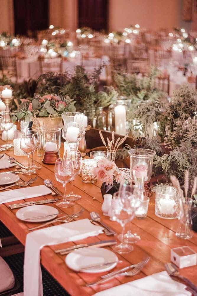 real wedding in cyprus country chic table decoration