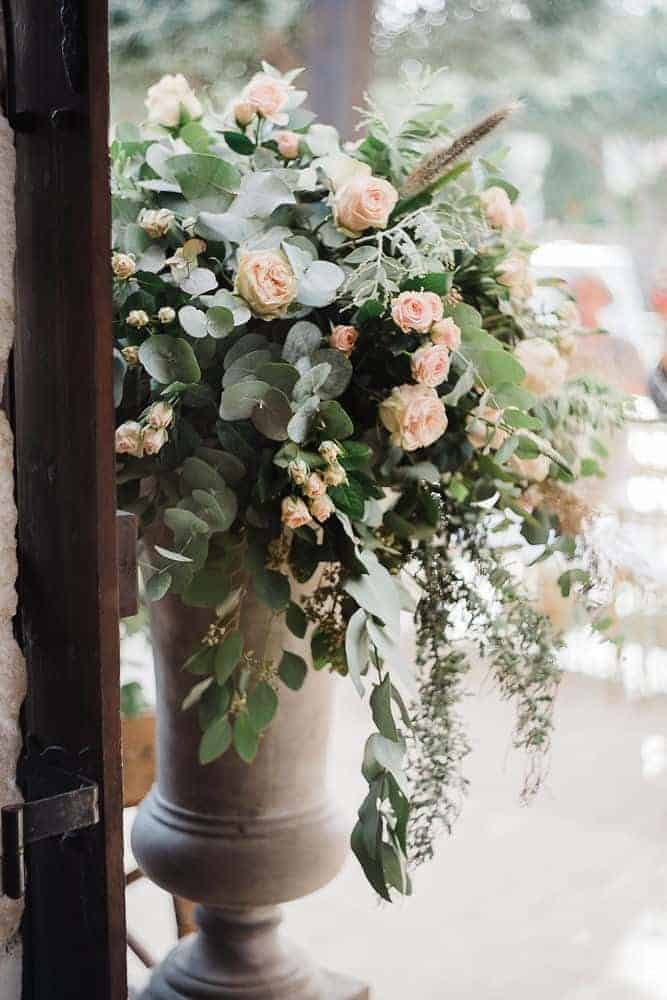 real wedding in Cyprus wedding decoration with pink roses