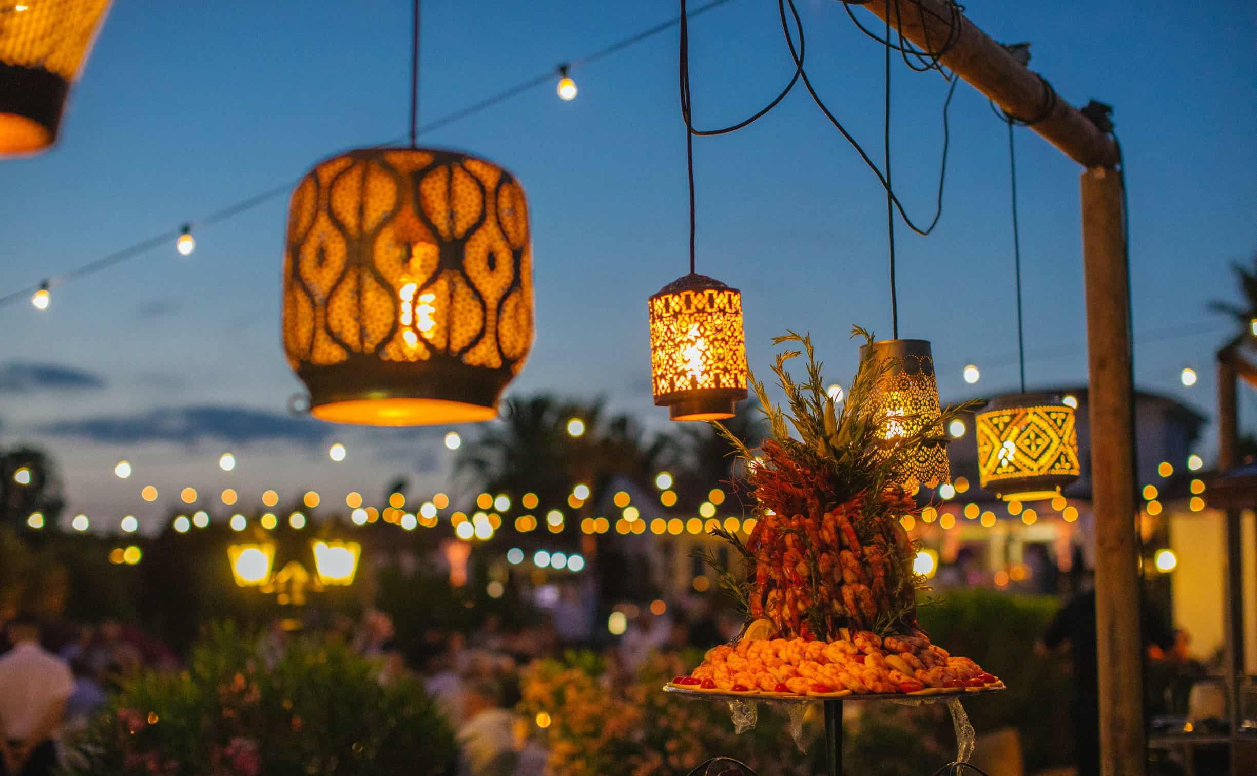 lighting wedding decoration