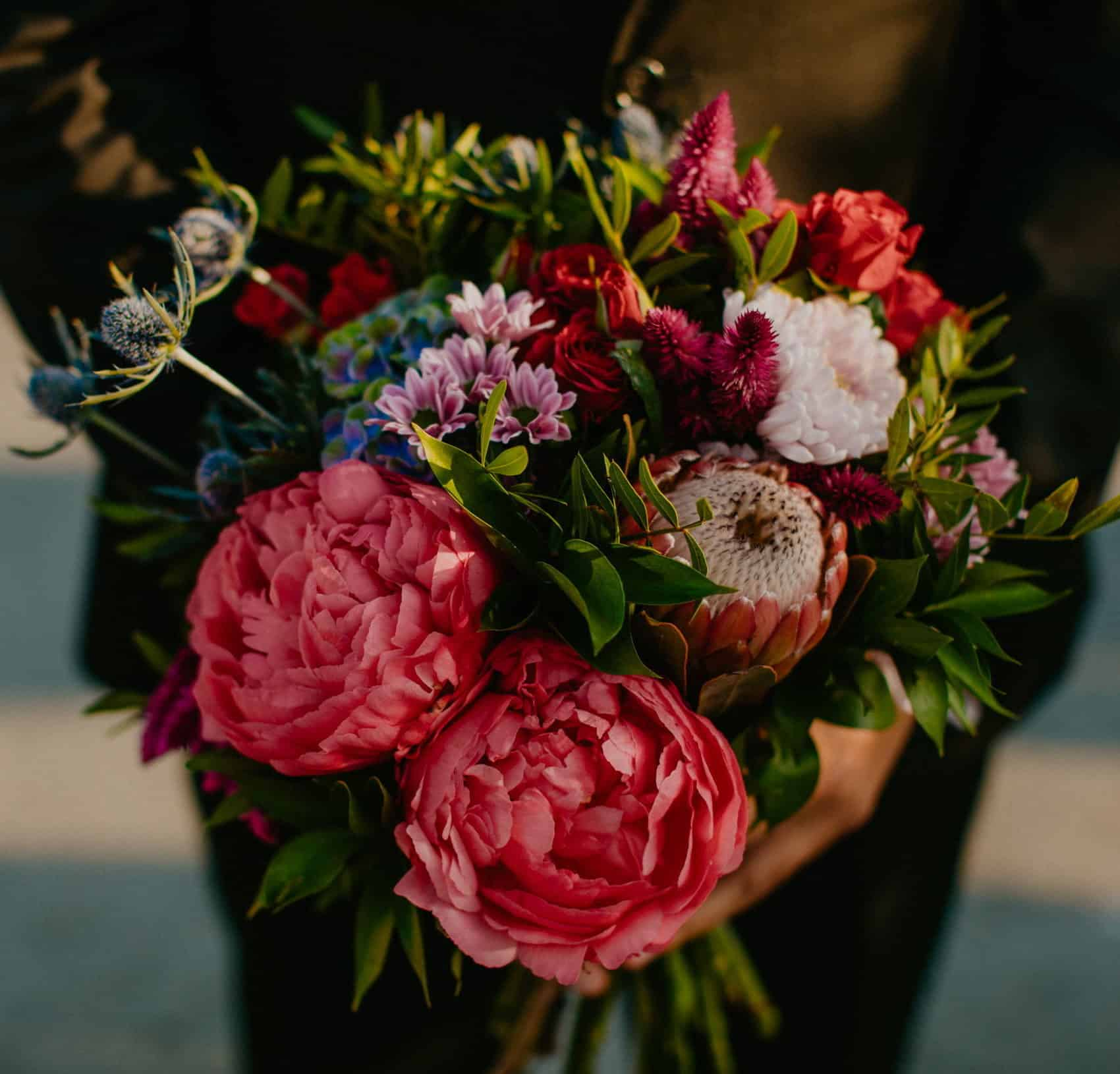 ethnic chic bridal bouquet
