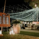 The table sitting plan at the entrance of a well-decorated wedding reception at Lexeko Estate.