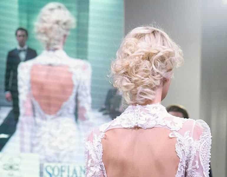 Bridal hair style for blonde hair by Miele Hair Spa.