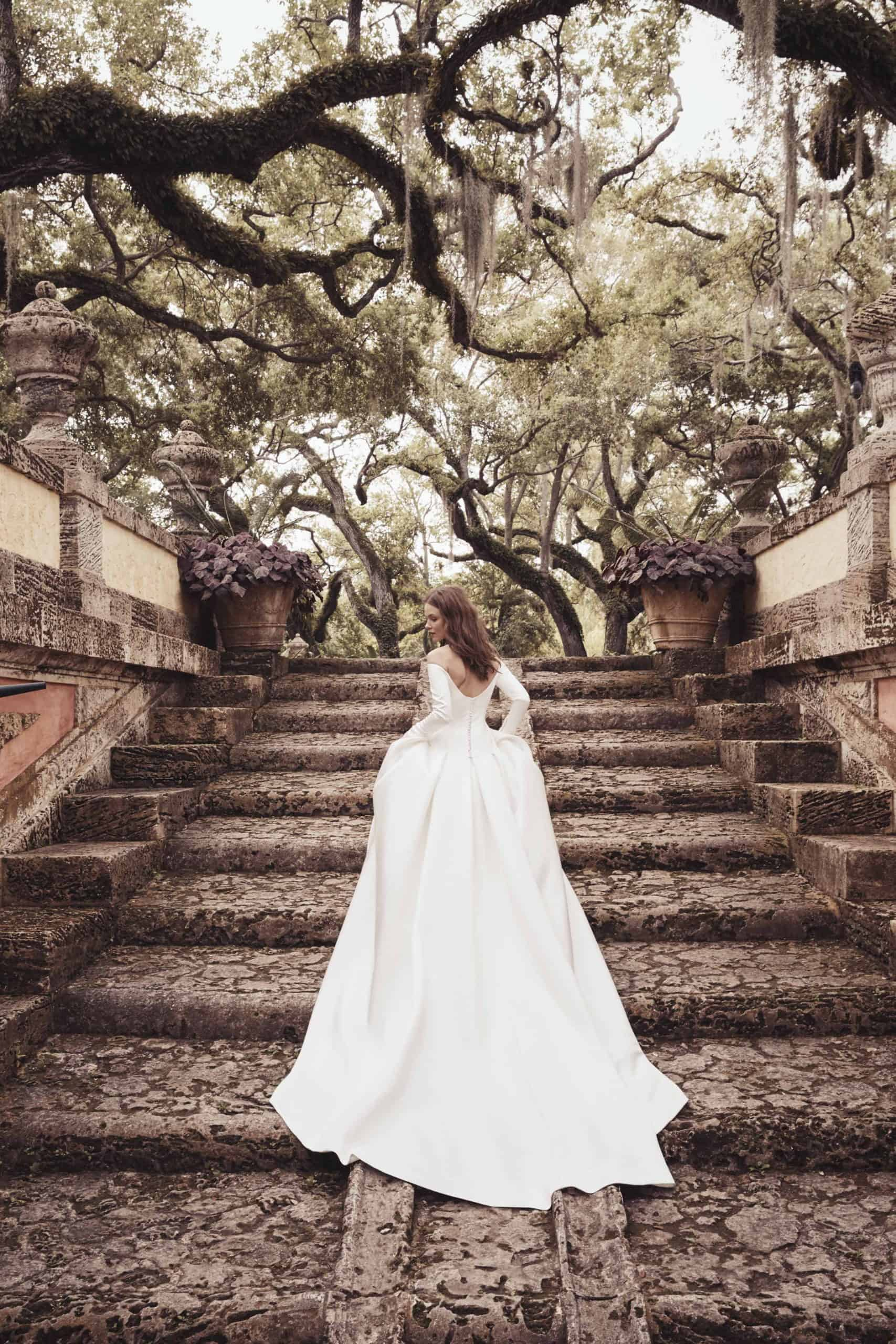 princess wedding dress with long sleeves by
