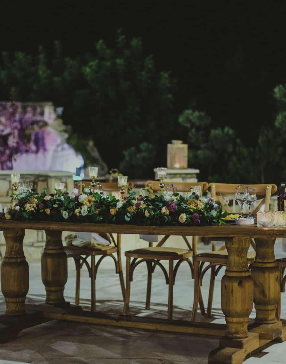 rustic romantic wedding decoration