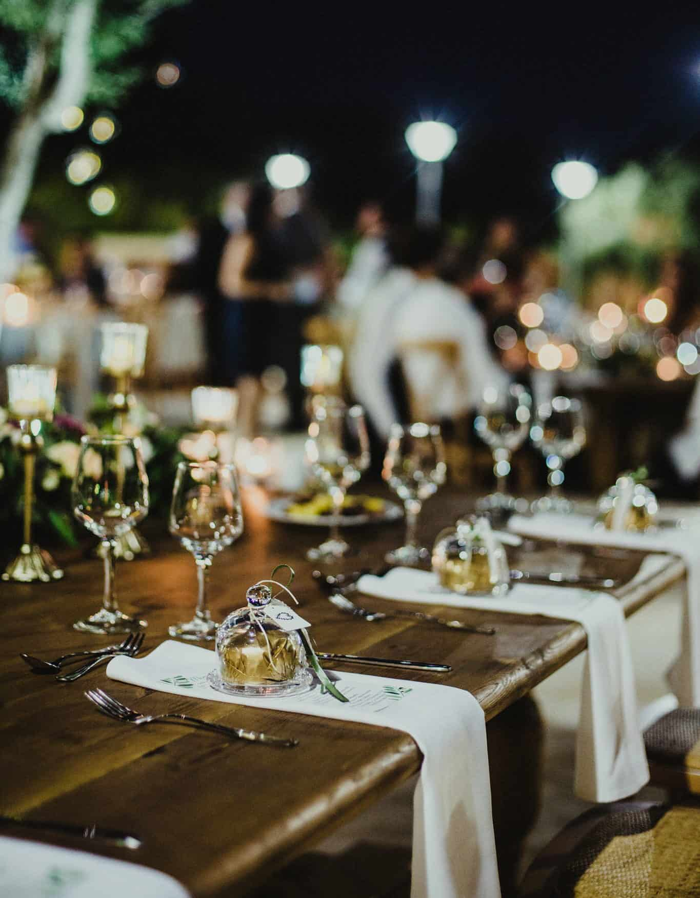 real wedding in Cyprus rustic romantic wedding table decoration