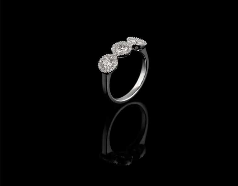 Astounding diamond engagement ring by Spanos Fine Jewelry.