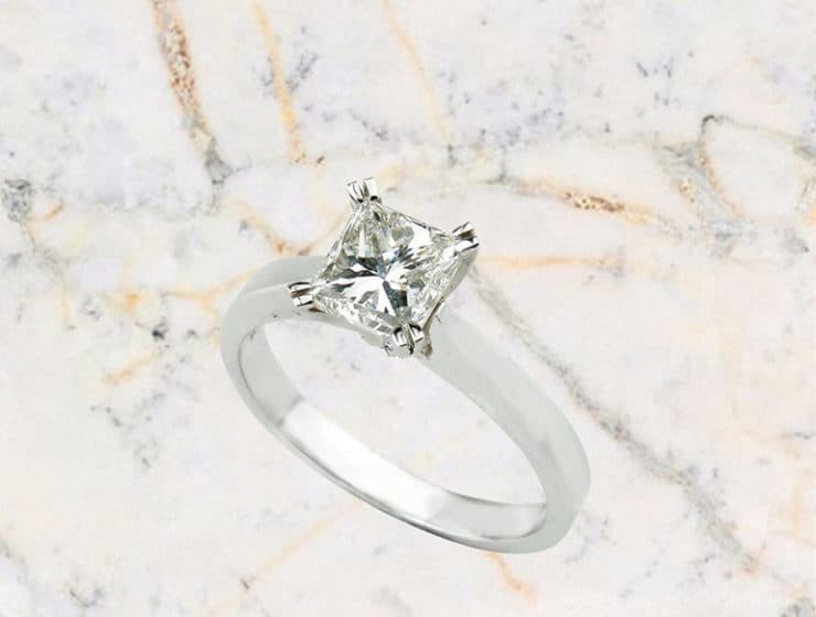 White diamond ring by Tsiropoulos in Cyprus.