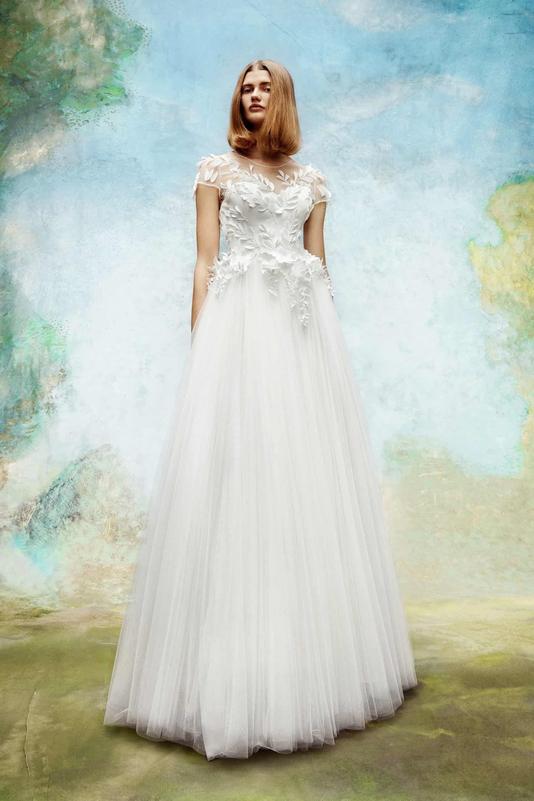 a-line wedding dress with lace top by Viktor and Rolf