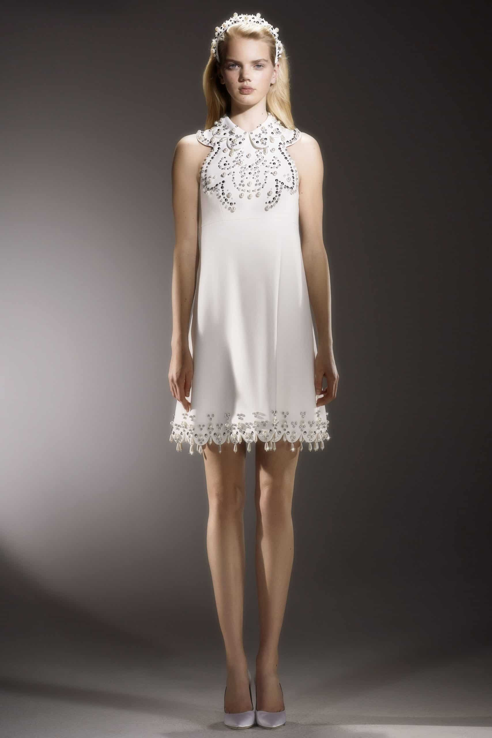 short wedding dress with diamonds by Viktor and Rolf