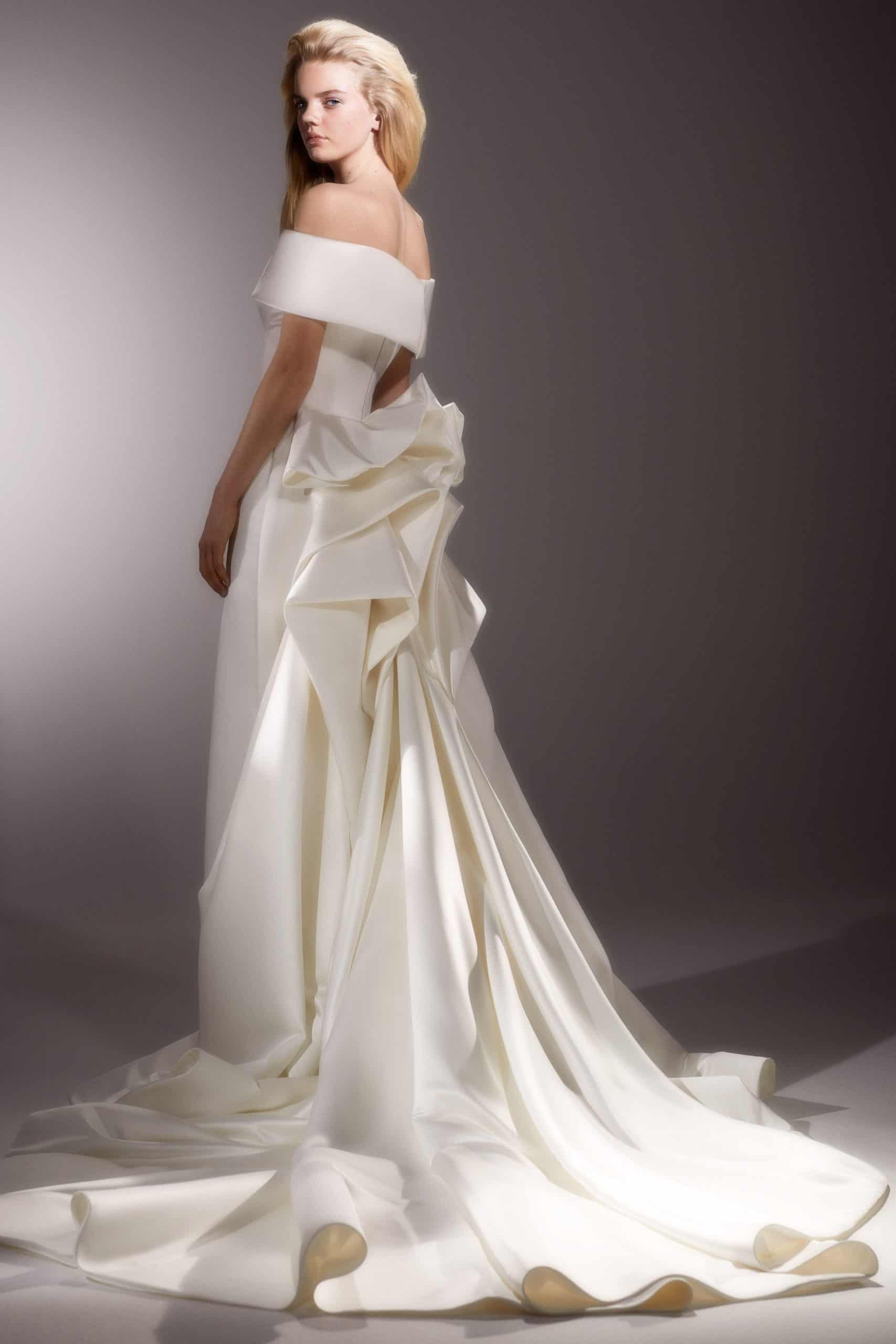 wedding dress satain