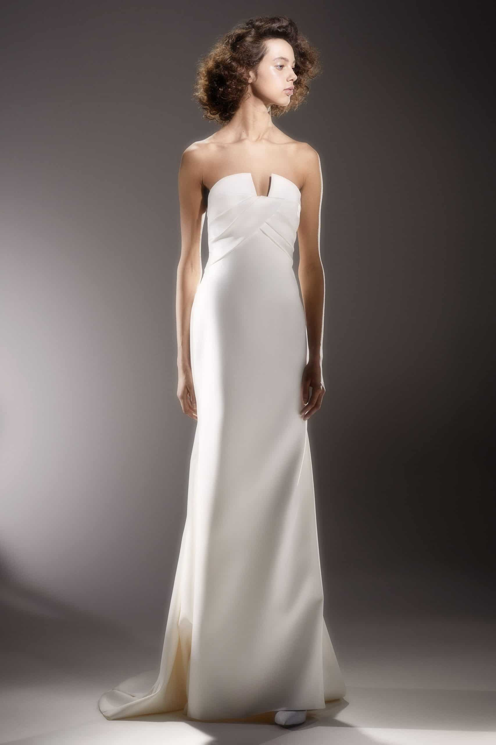strapless wedding dress with a tale by Viktor and Rolf