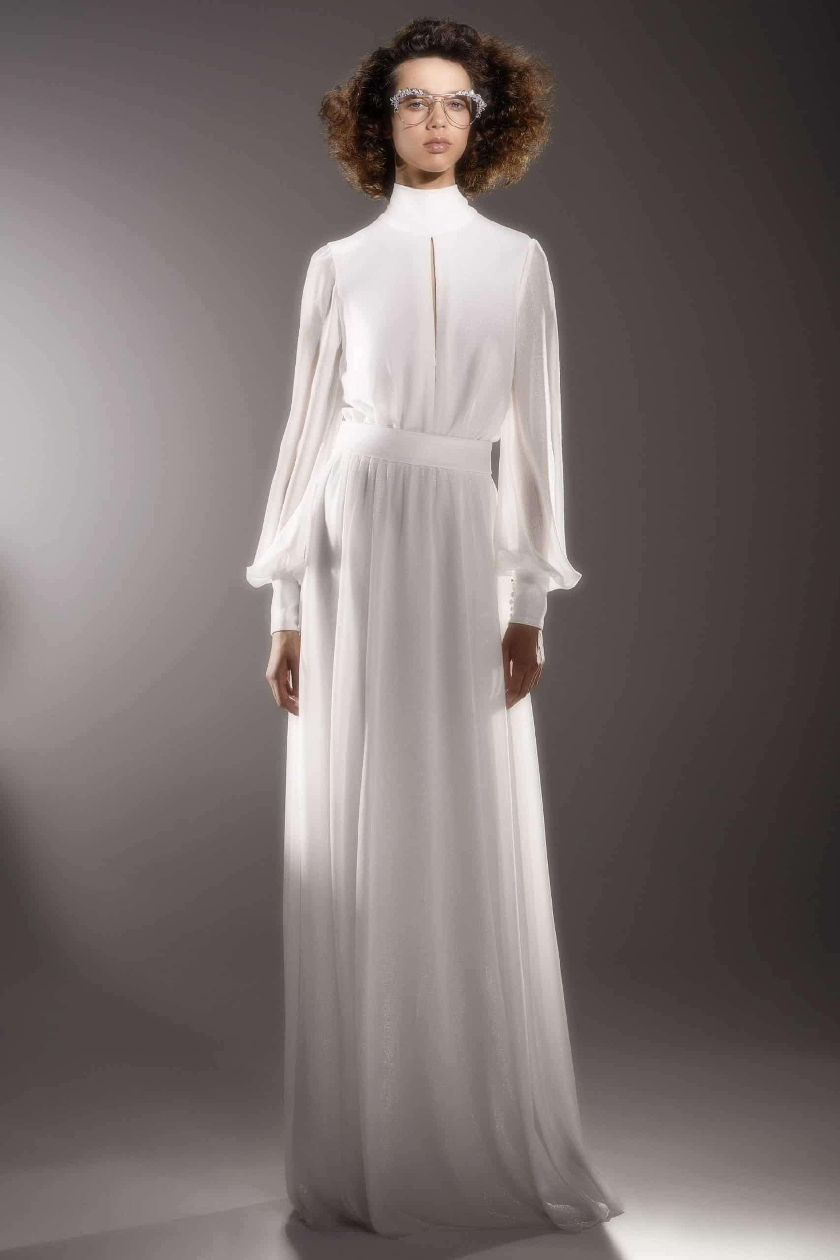 silk wedding dress by Viktor and Rolf