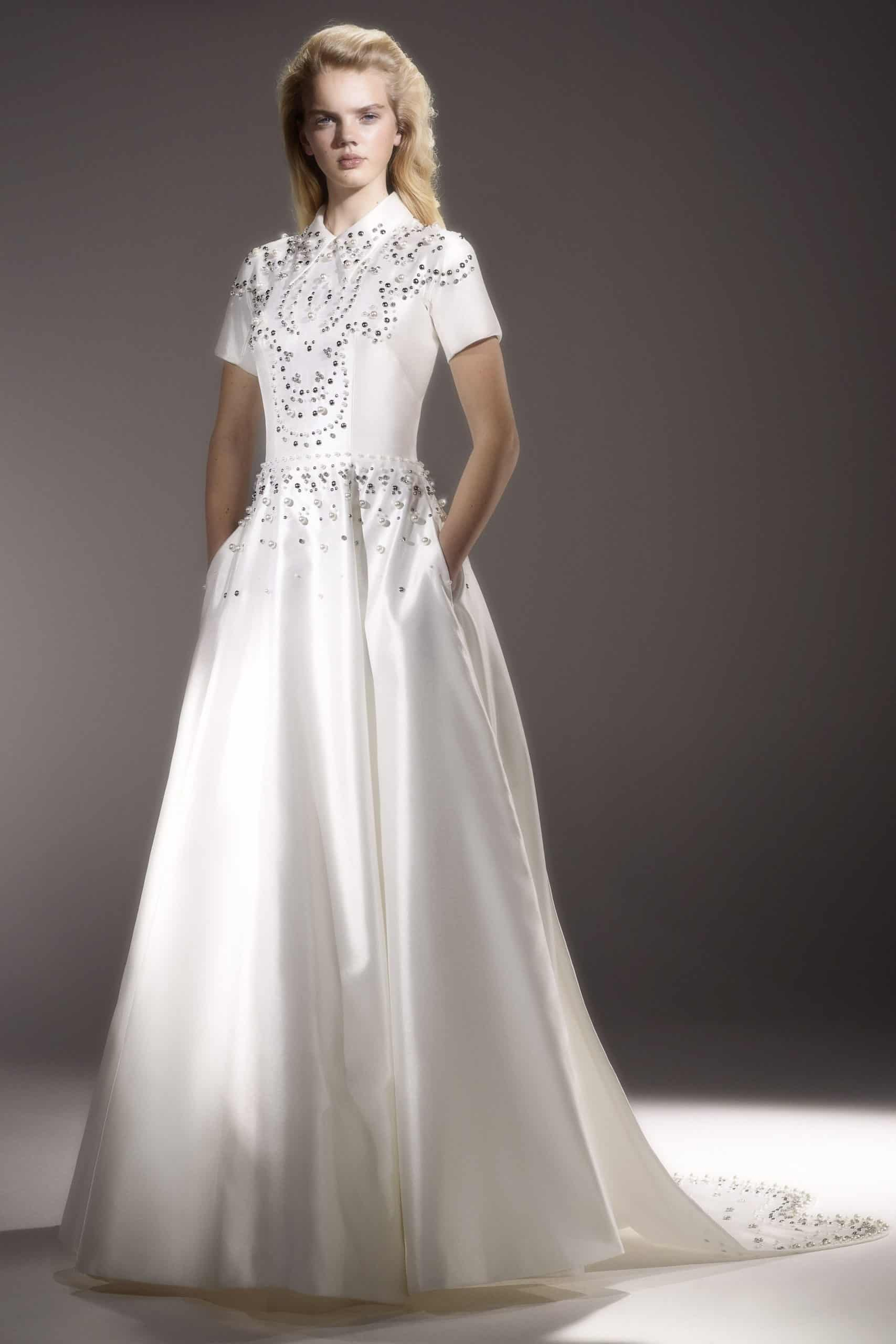 a-line wedding dress with diamonds by Viktor and Rolf