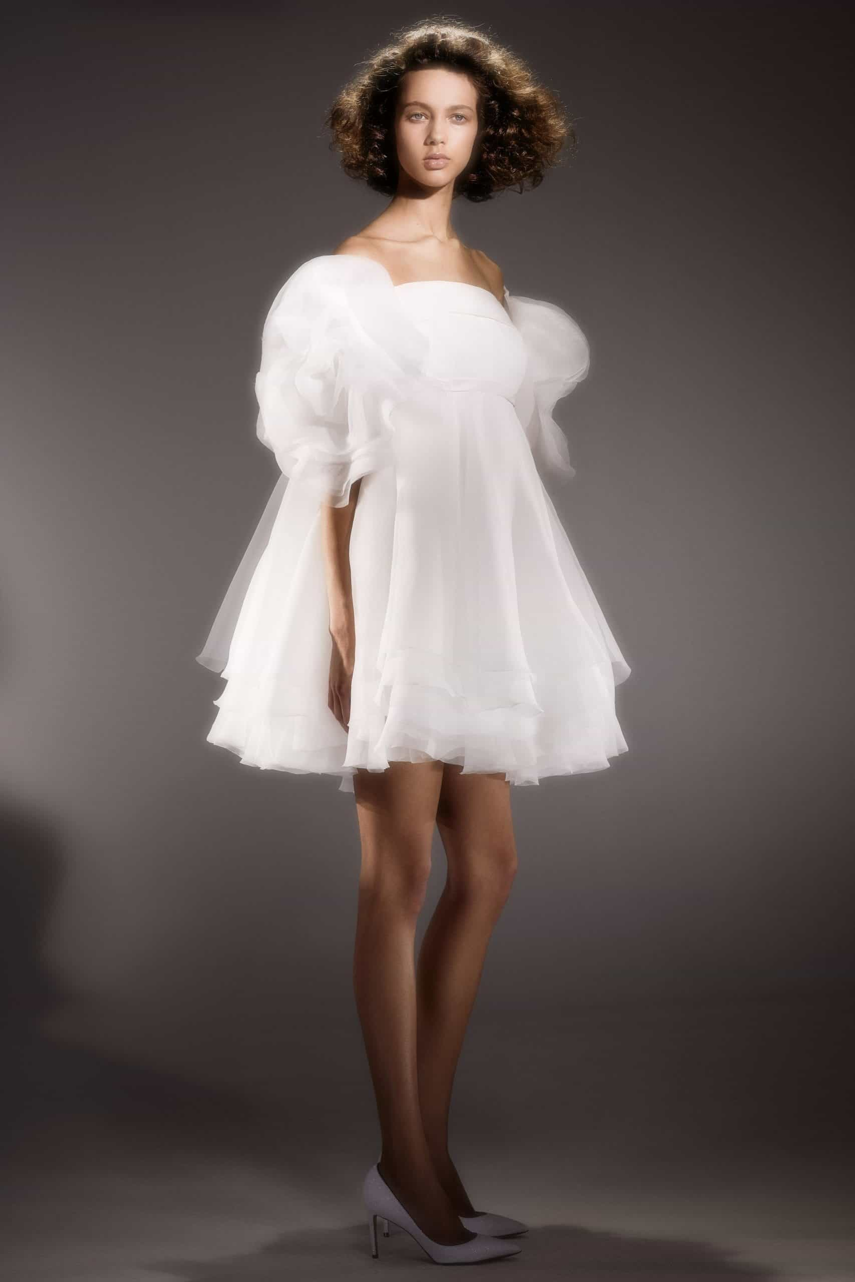 tulle short wedding dress by Viktor and Rolf