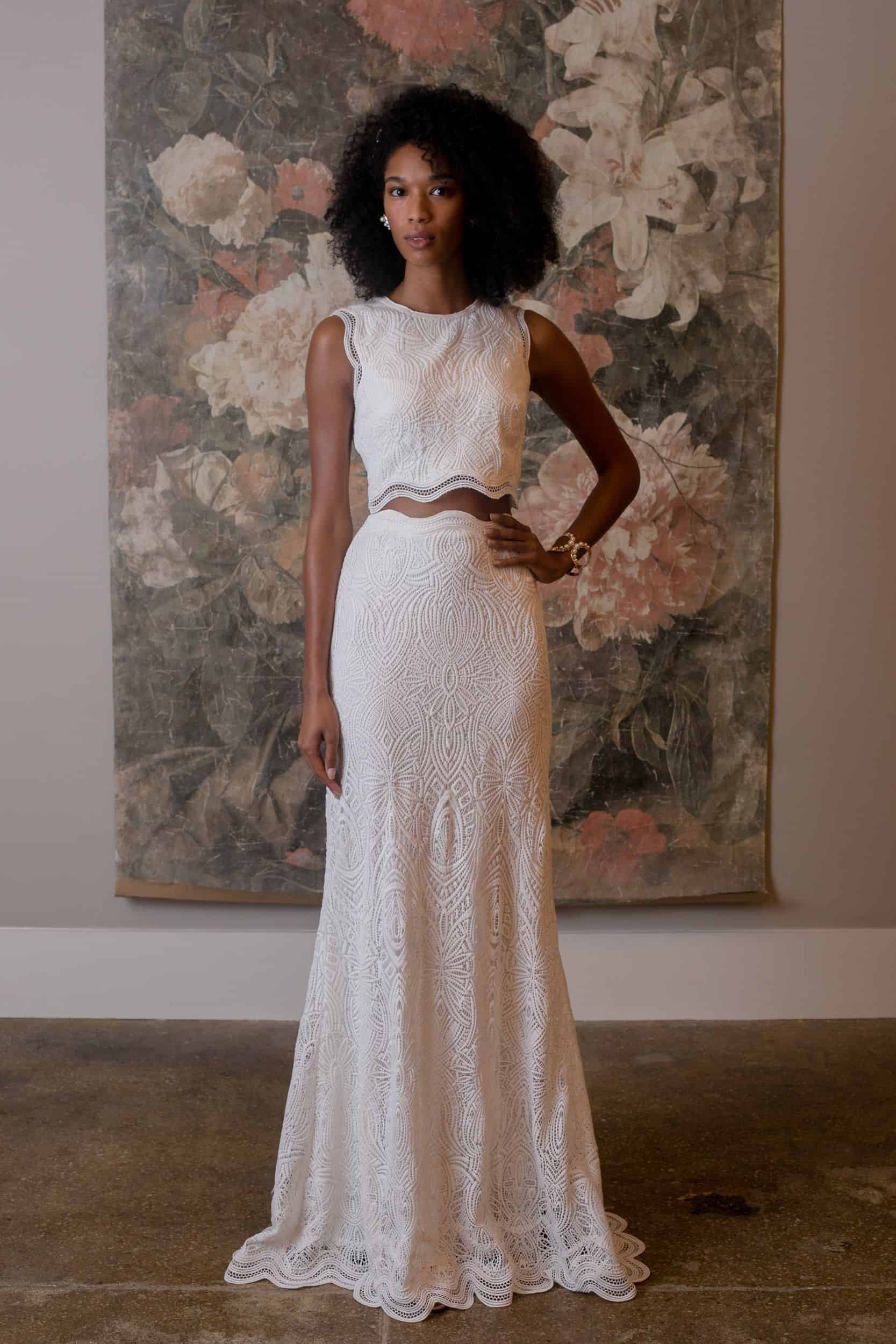 crop top wedding dress collection fall 2019 by Bhldn