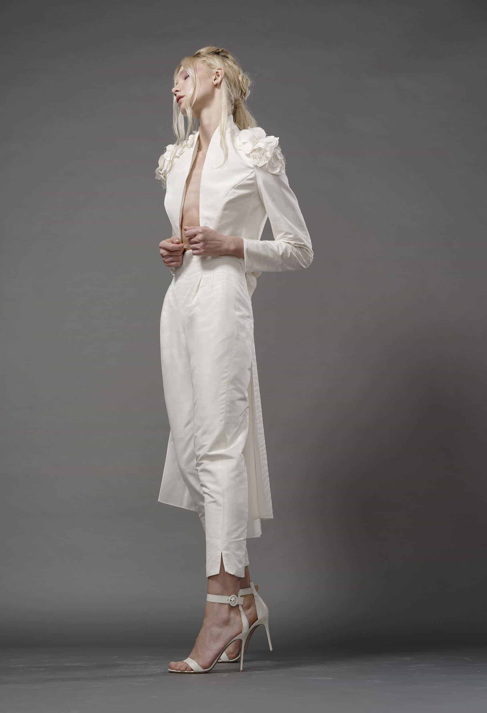 suit wedding dress collection fall 2019 by Elizabeth Fillmore