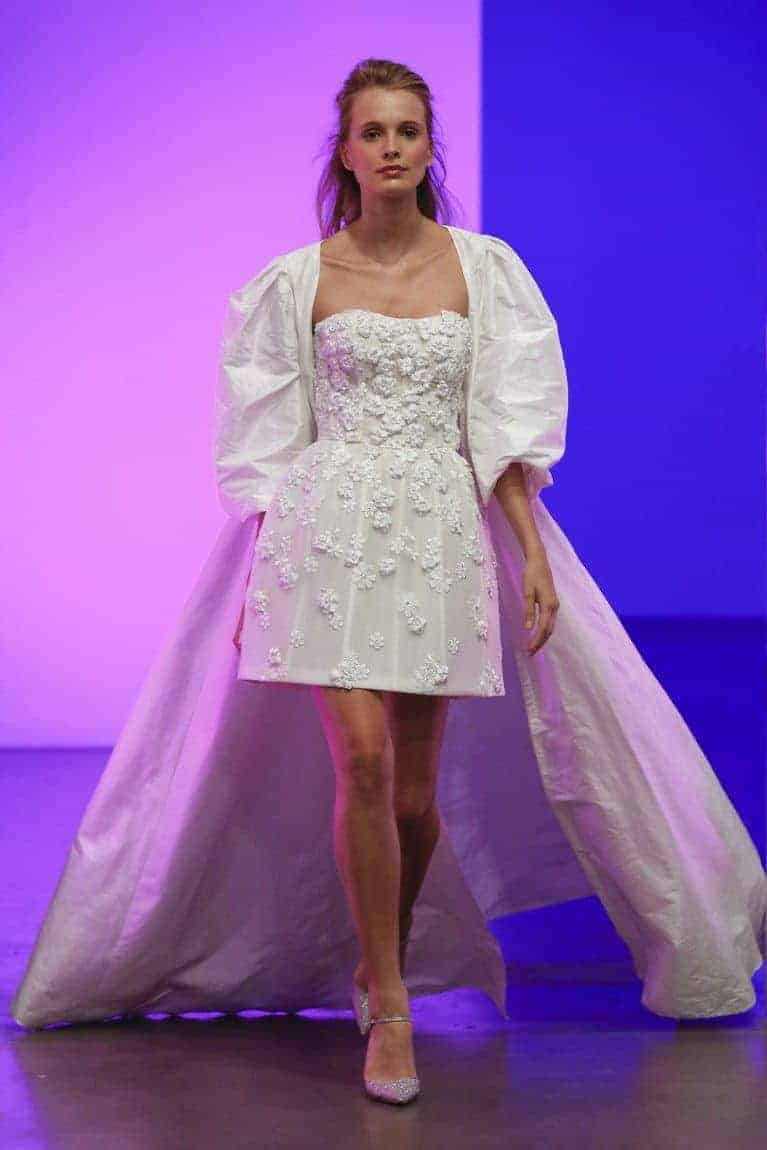two levelled wedding dress collection fall 2019 by Gracy Accad