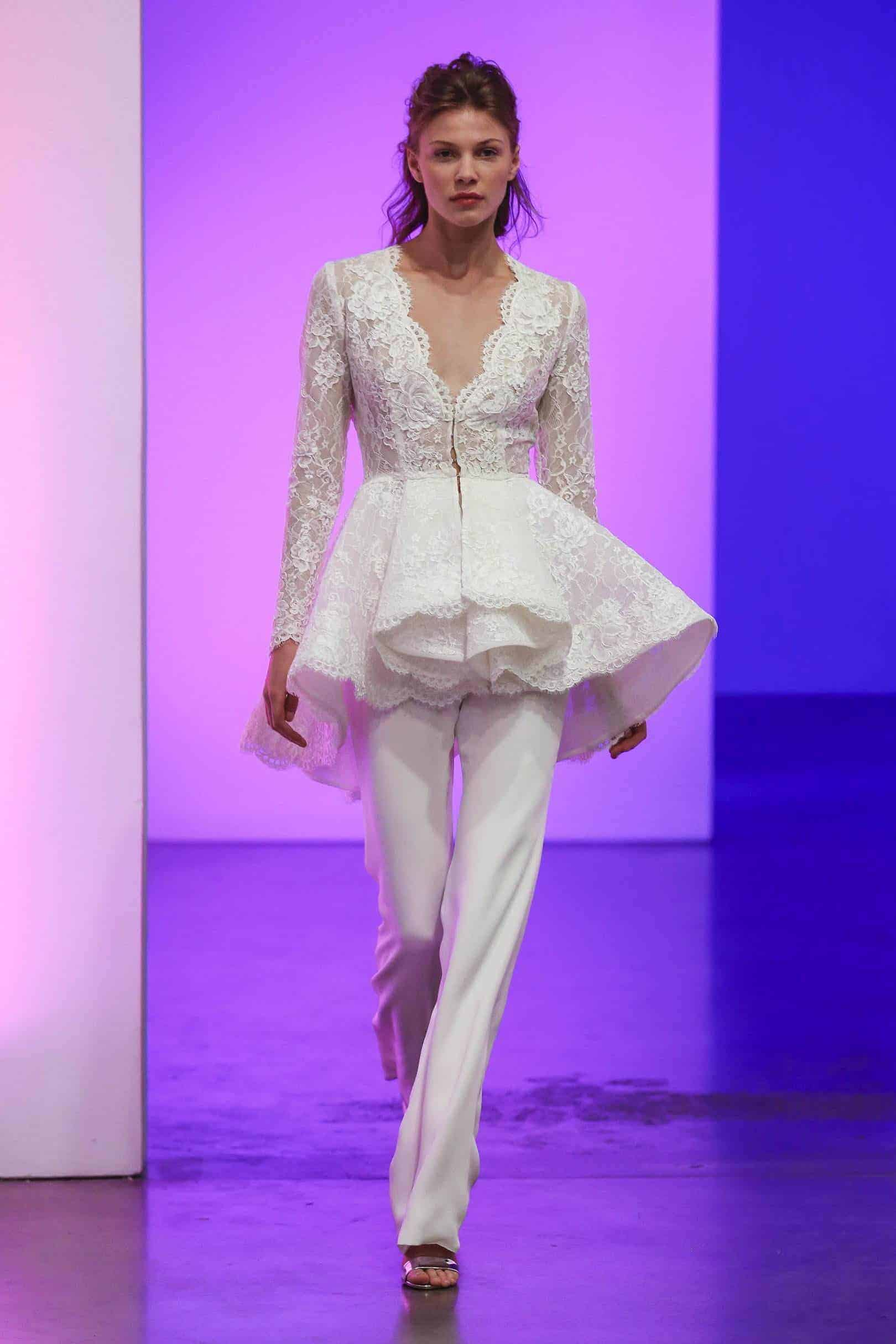 suit wedding dress collection fall 2019 by Gracy Accad