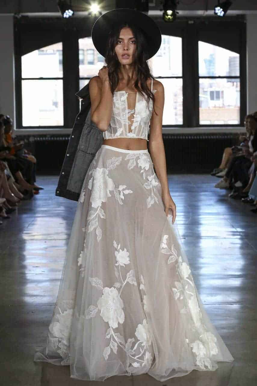 crop top wedding dress collection fall 2019 by Willow by Watters