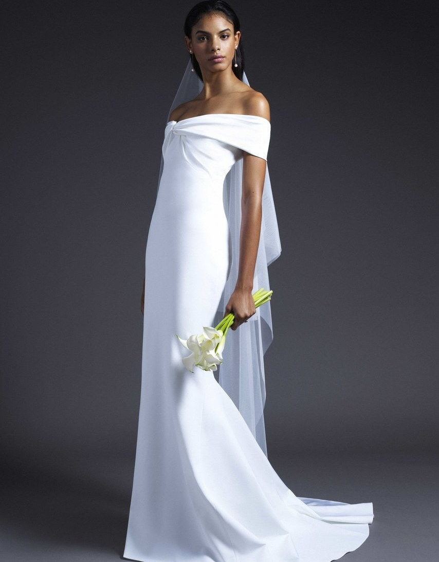 wedding dress like Meghan Markle collection fall 2019 by Cushnie