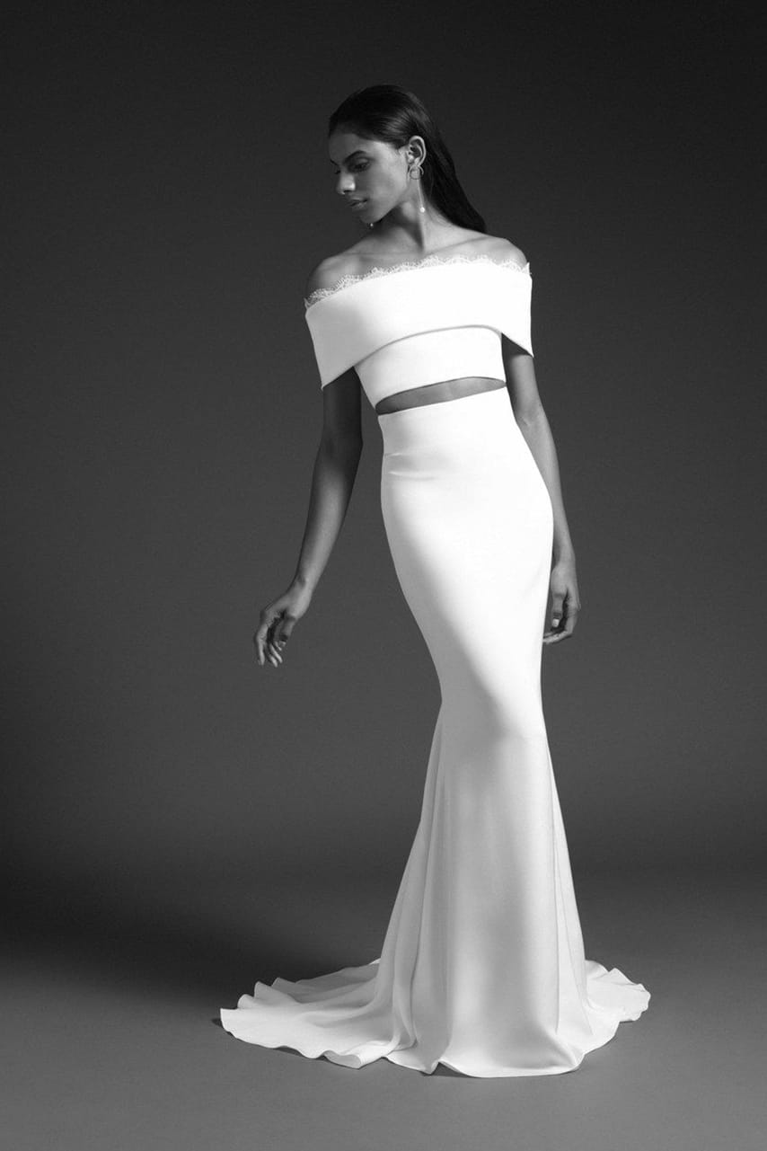 crop top wedding dress collection fall 2019 by Cushnie