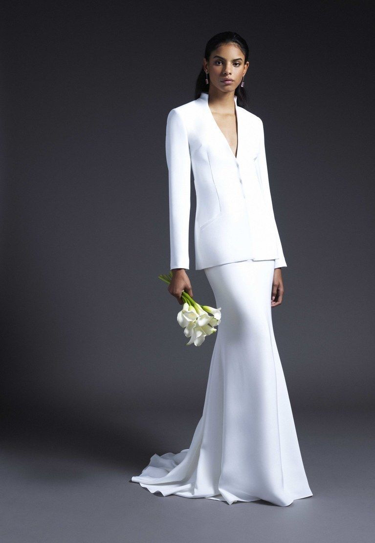 suit wedding dress collection fall 2019 by Cushnie