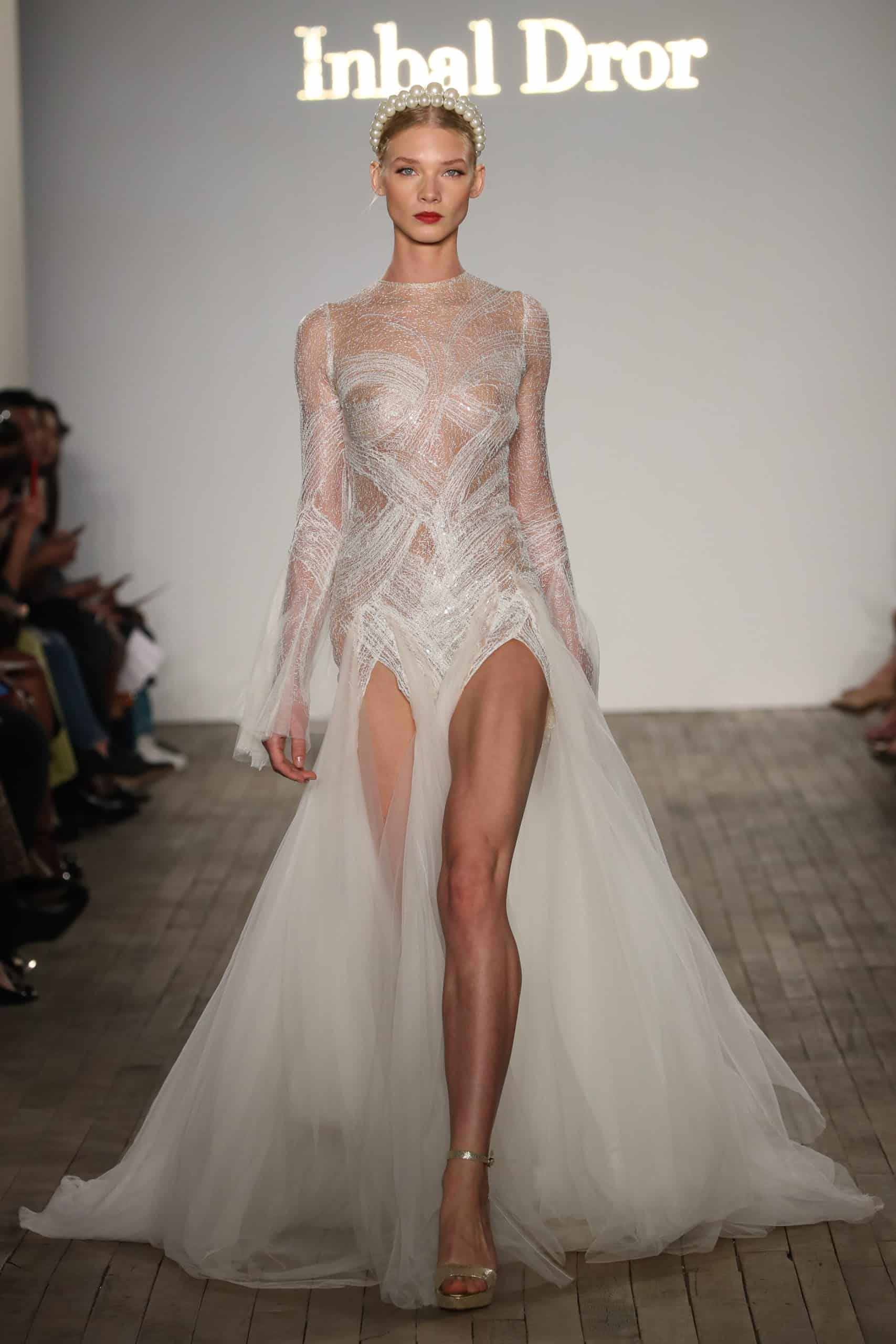 two levelled wedding dress collection fall 2019 by Inbal Dror