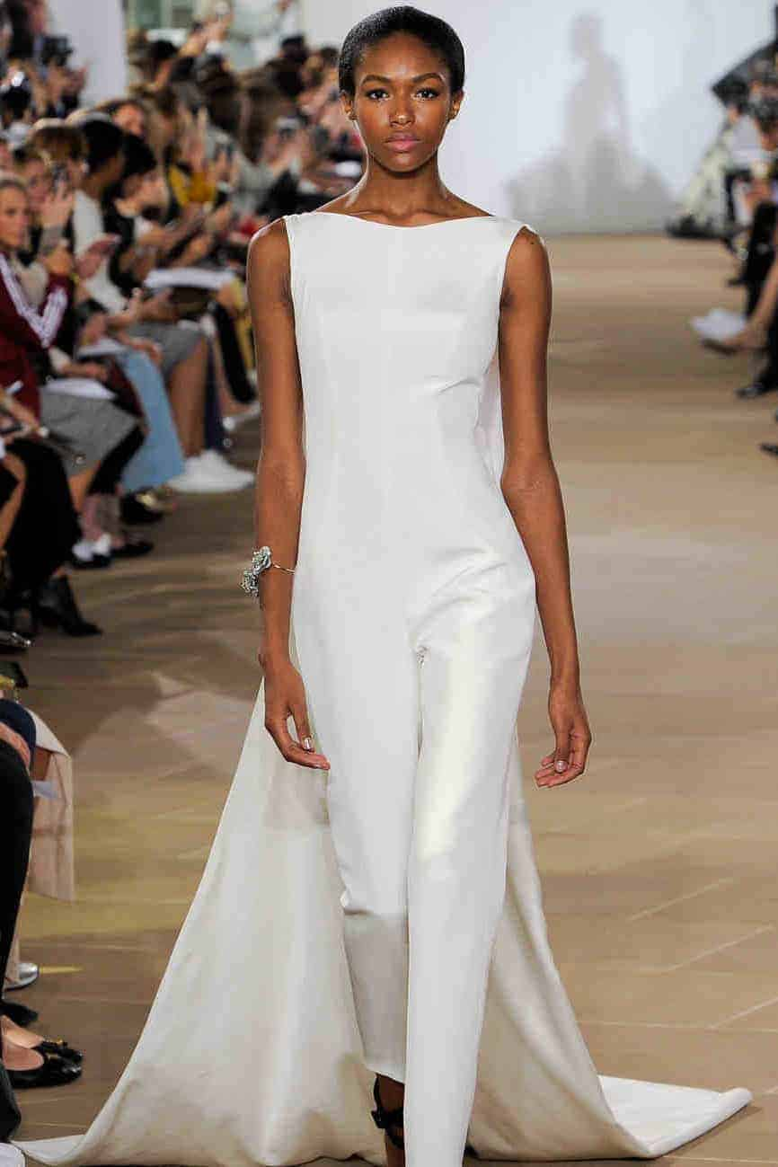 jumpsuit wedding dress collection fall 2019 by Ines Di Santo