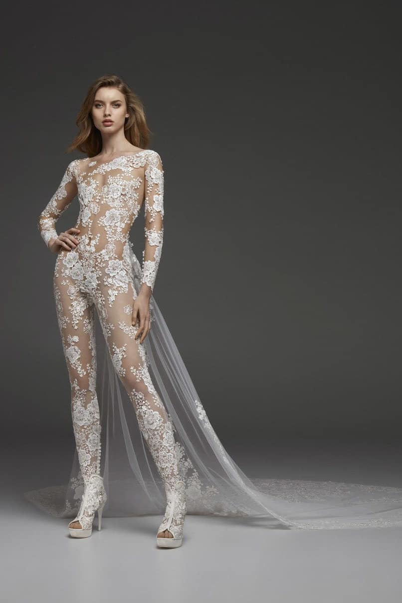 jumpsuit wedding dress collection fall 2019 by Pronovias