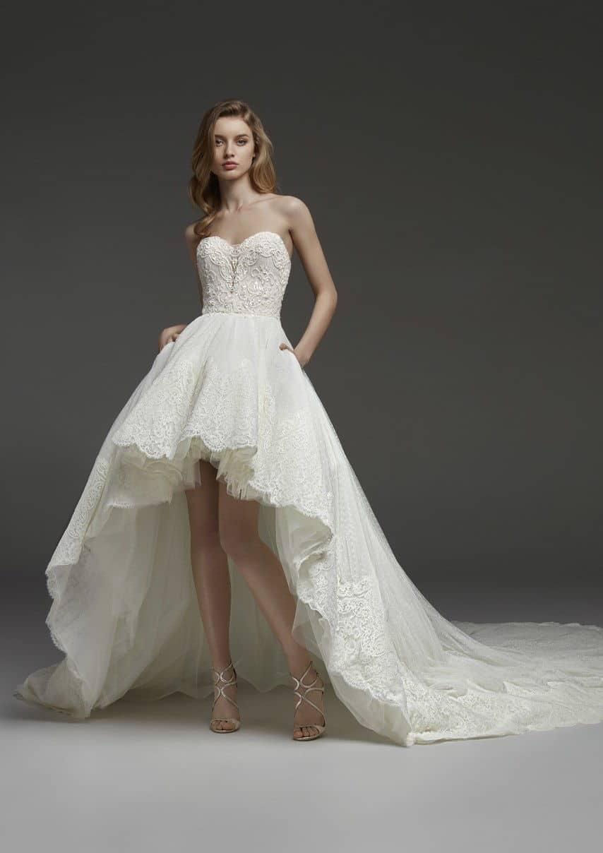 two levelled wedding dress collection fall 2019 by Pronovias
