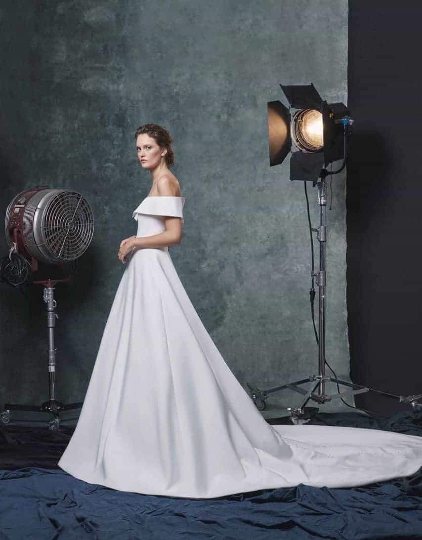wedding dress like Meghan Markle collection fall 2019 by Sareh Nouri