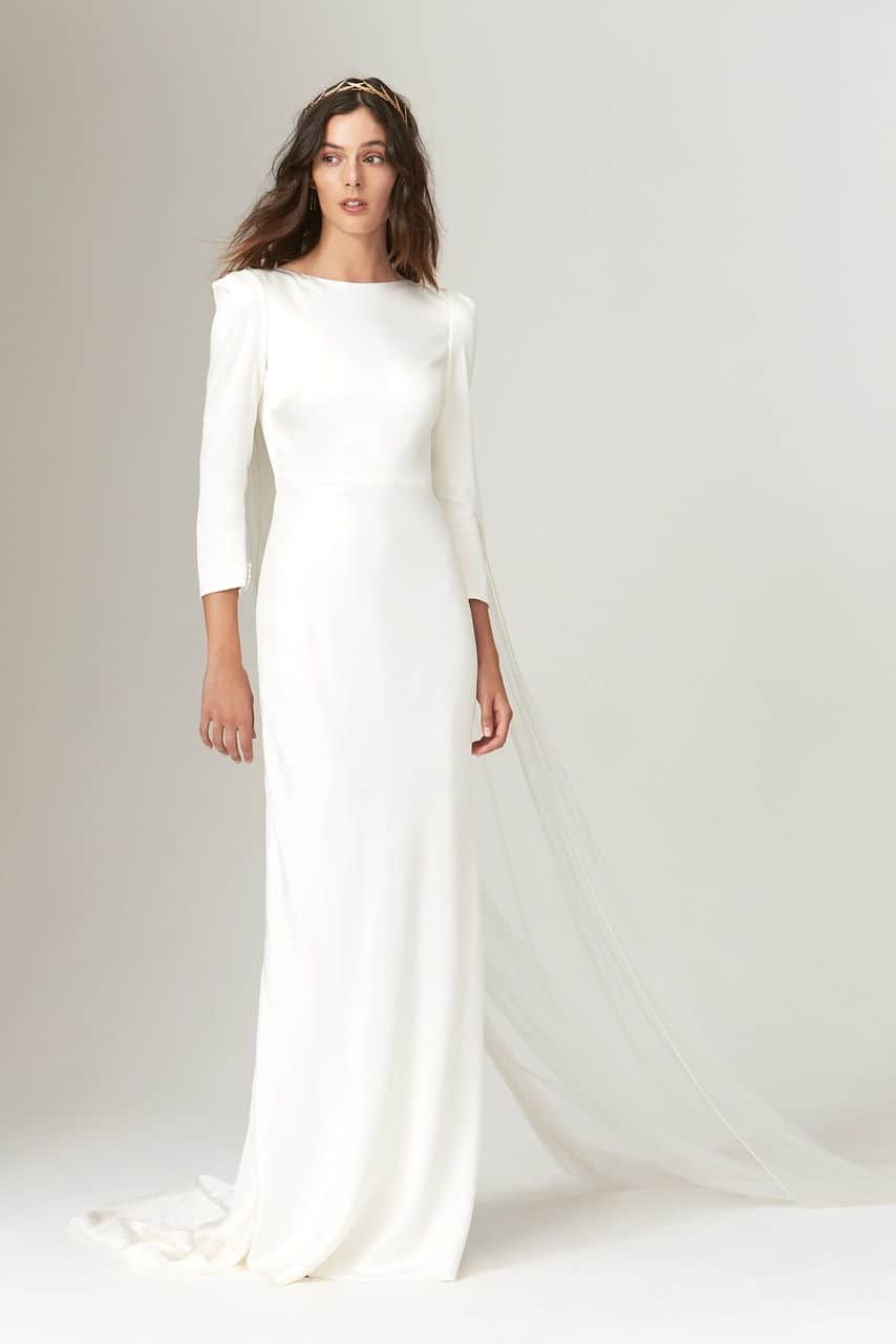 wedding dress like Meghan Markle collection fall 2019 by Savannah Miller