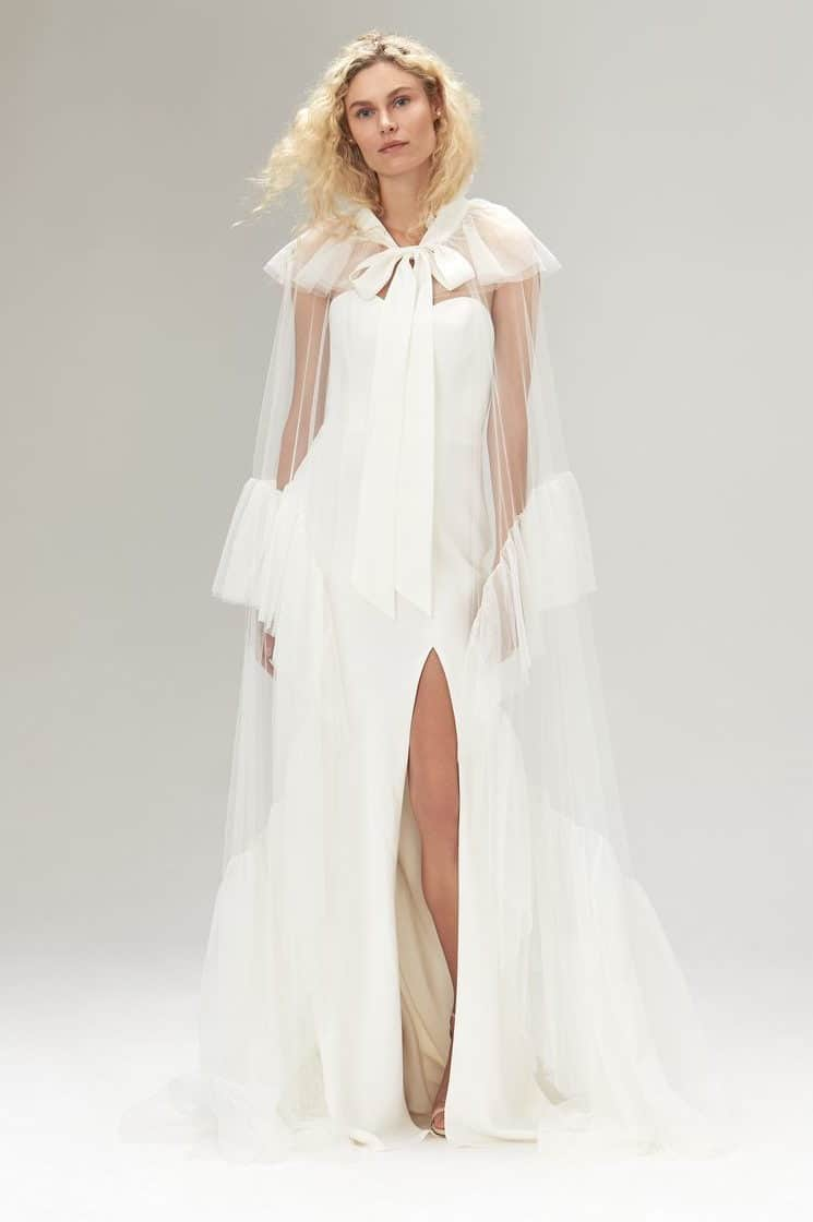 wedding dress with romantic sleeves collection fall 2019 by Savannah Miller