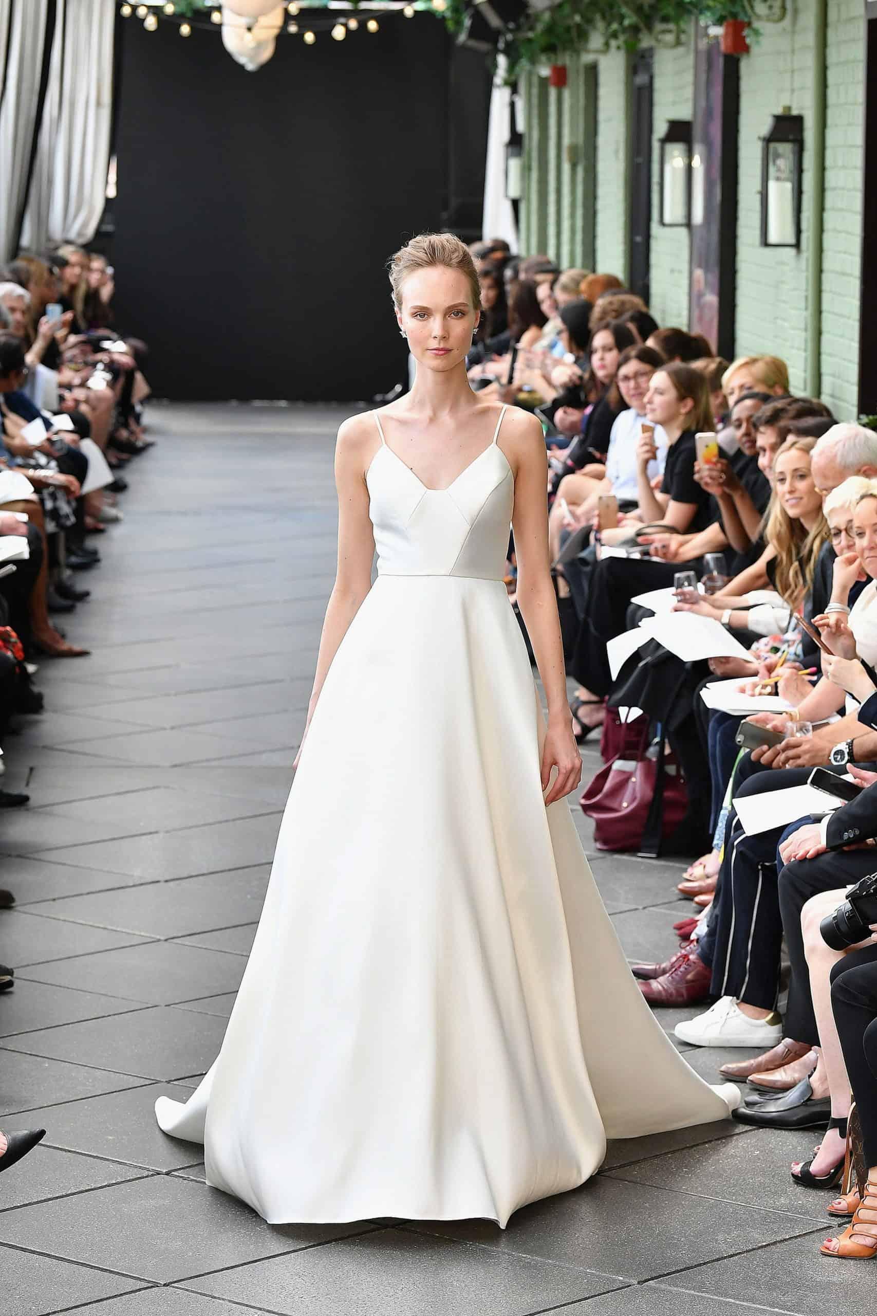 a line wedding dress by Amsale
