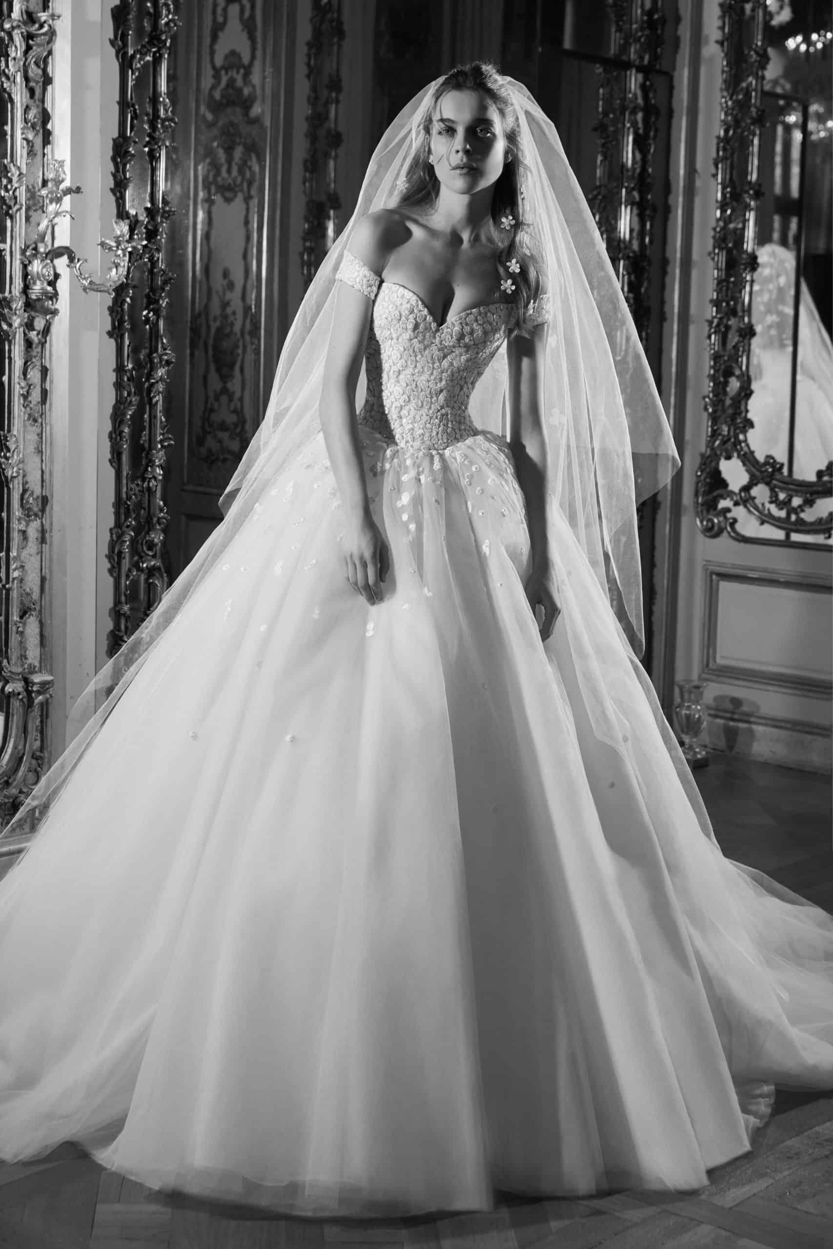 princess style wedding dress by Elie Saab