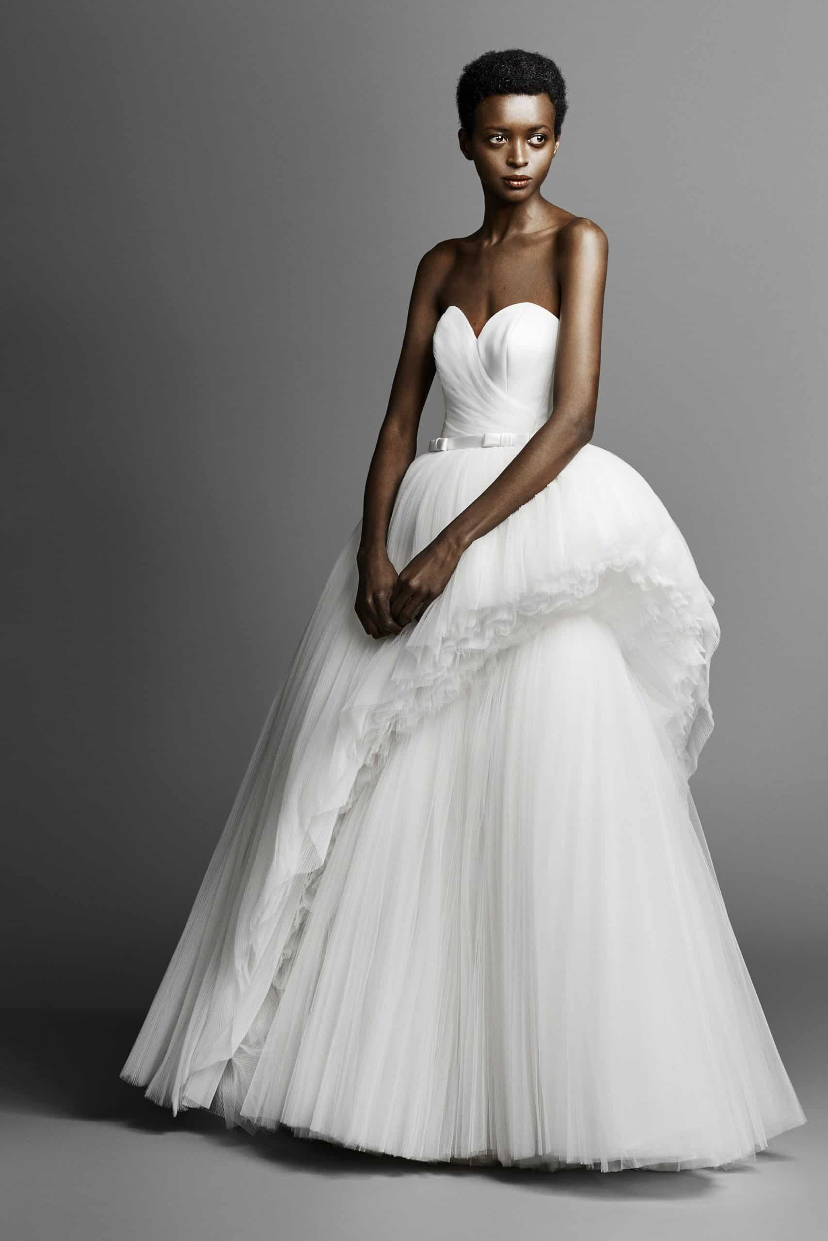 wedding dress with two layers skirt by Viktor and Rolf