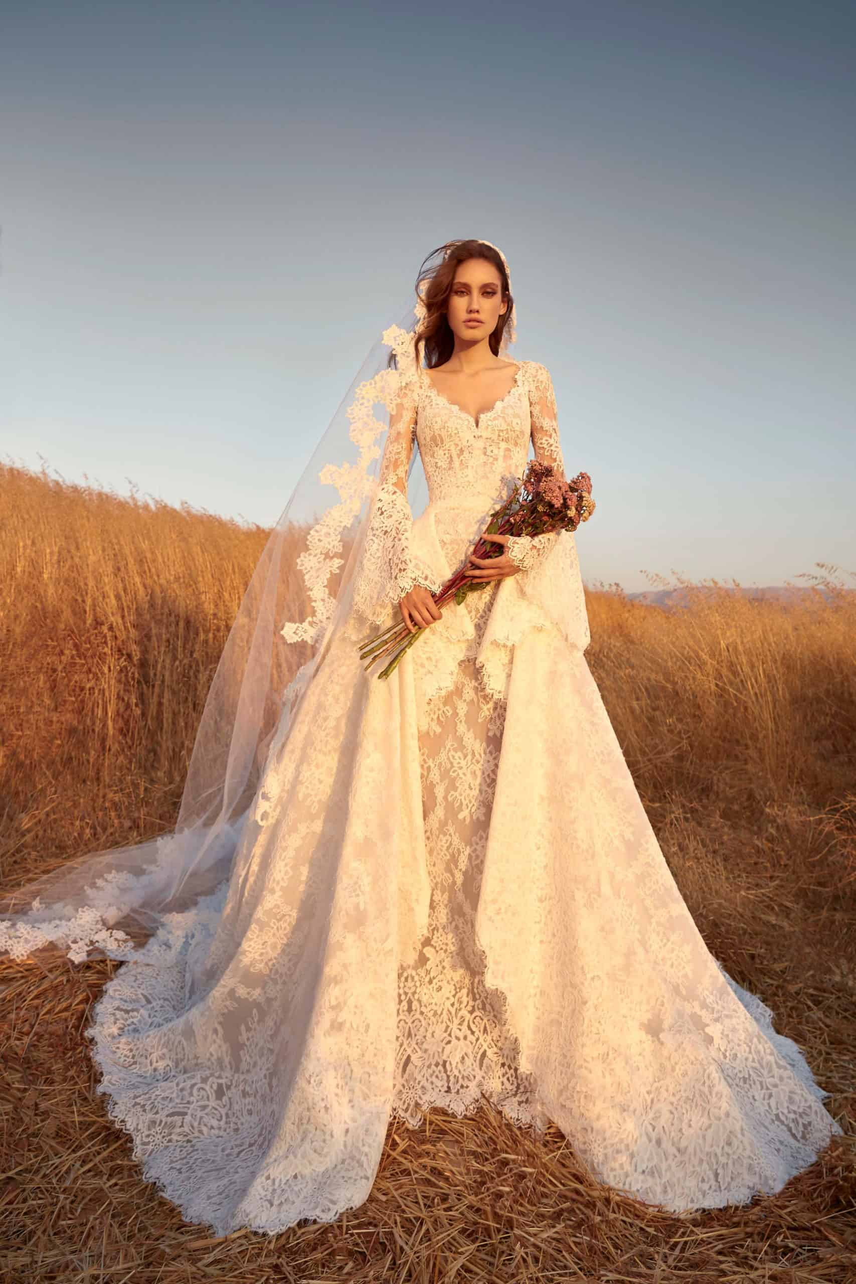 heavy lace a-line wedding dress by Zuhair Murad