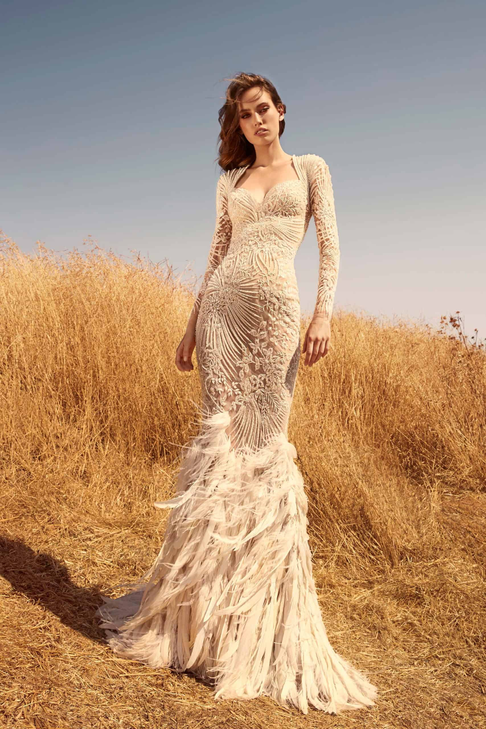 mermaid wedding dress with embossed lace by Zuhair Murad