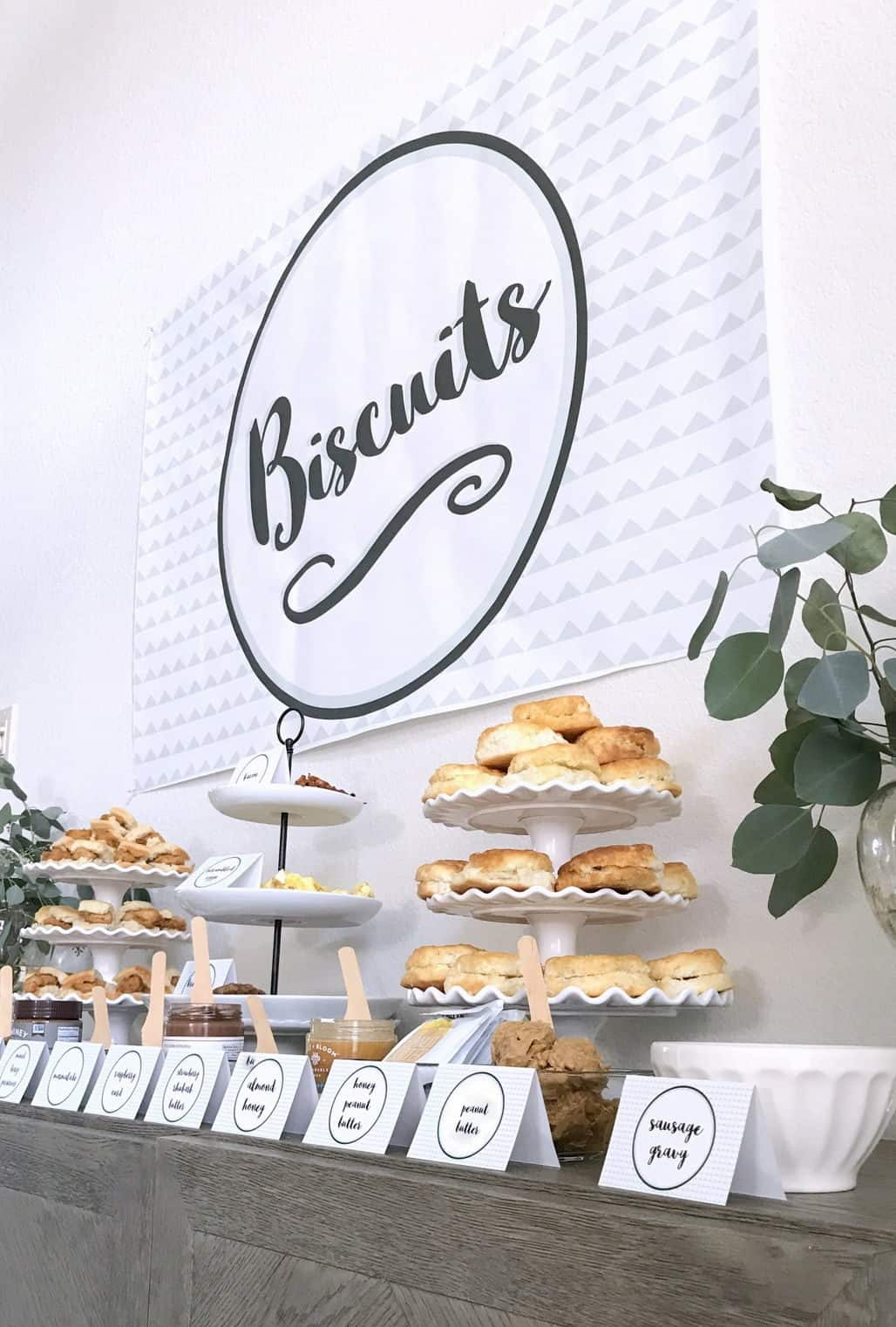 brunch table biscuits catering
