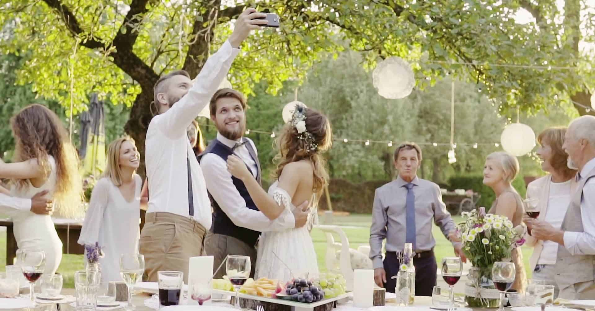 wedding party in the park